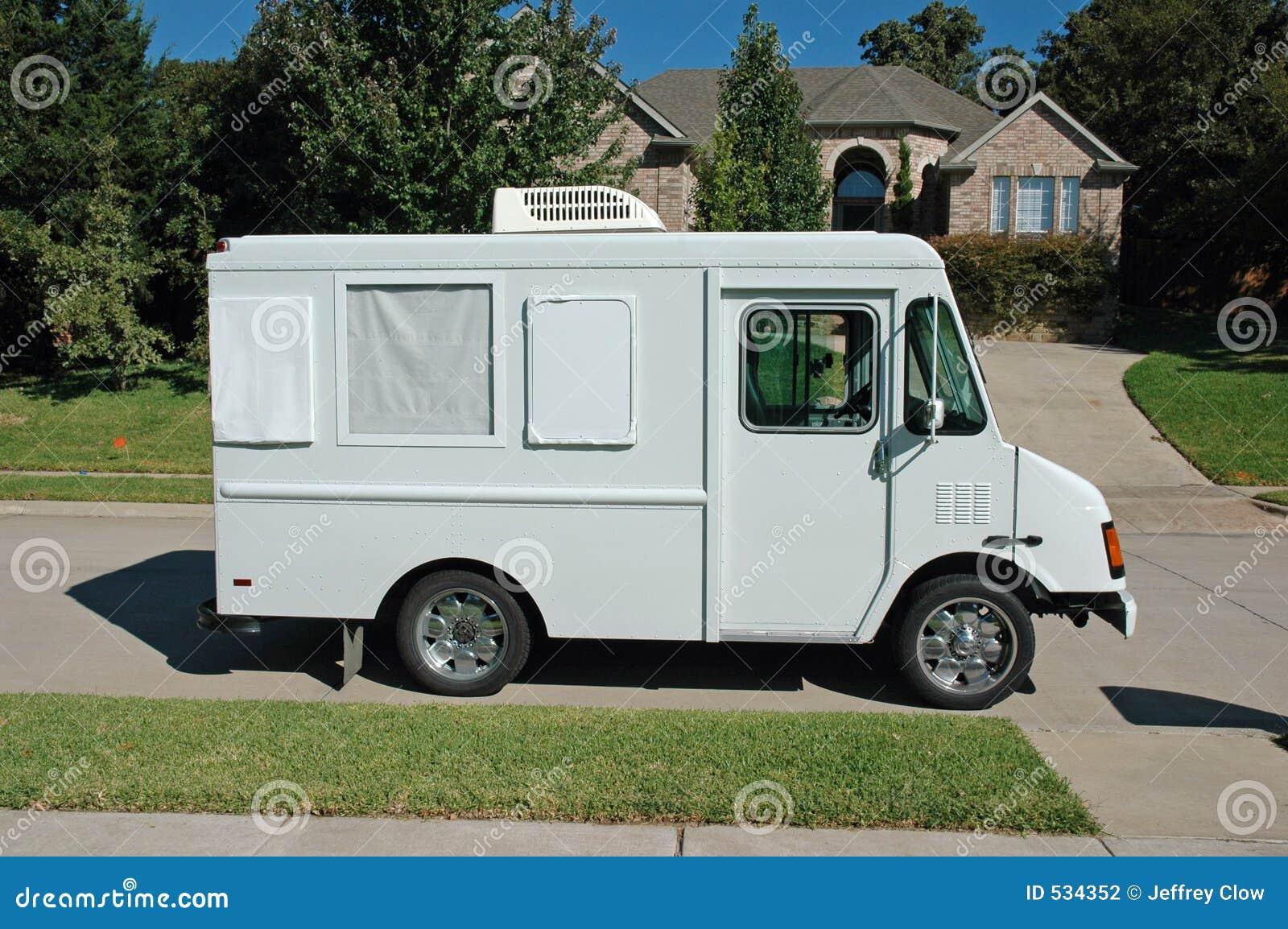 Caminhão suburbano do serviço