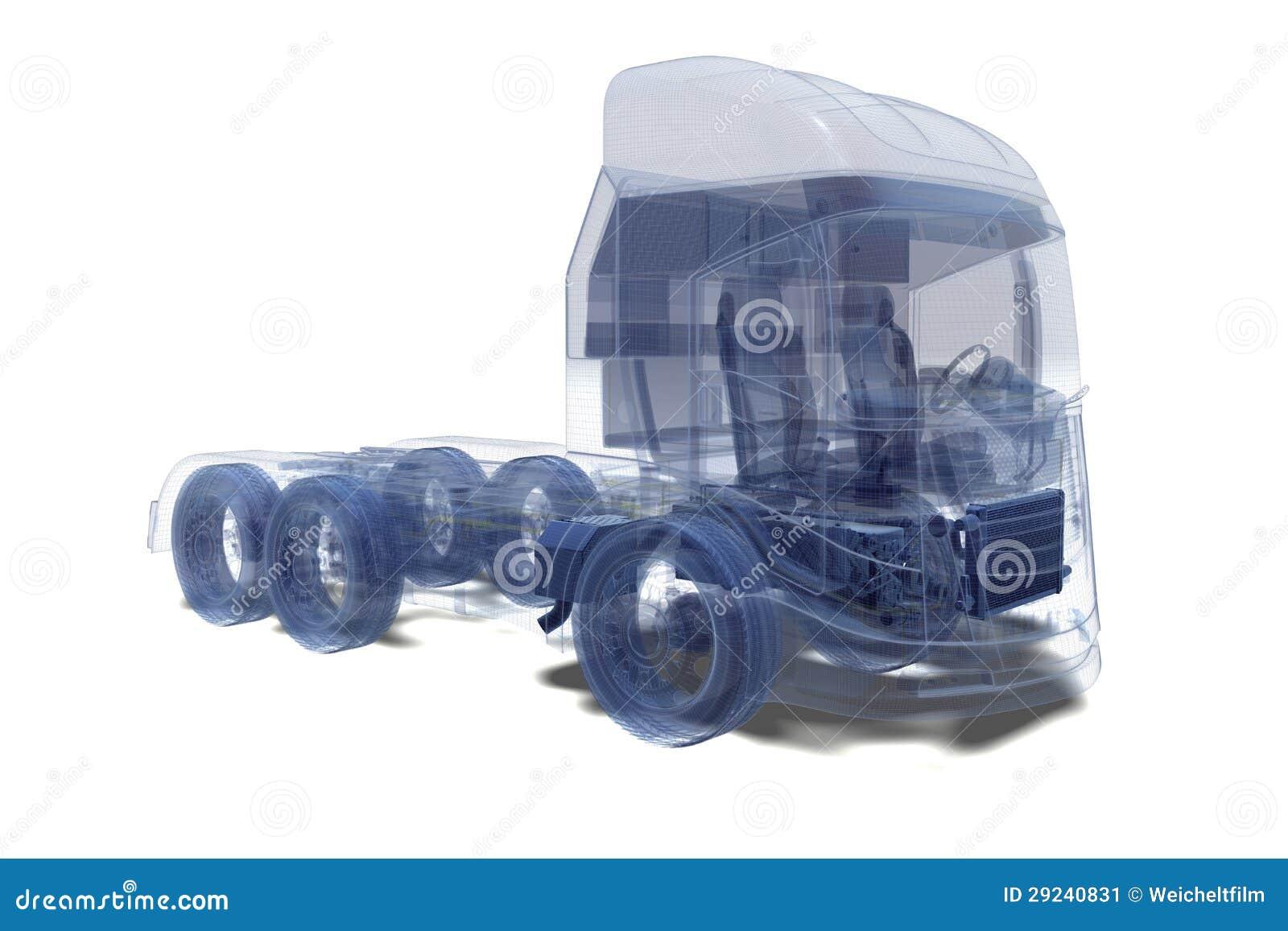 Download Caminhão super ilustração stock. Ilustração de engranzamento - 29240831