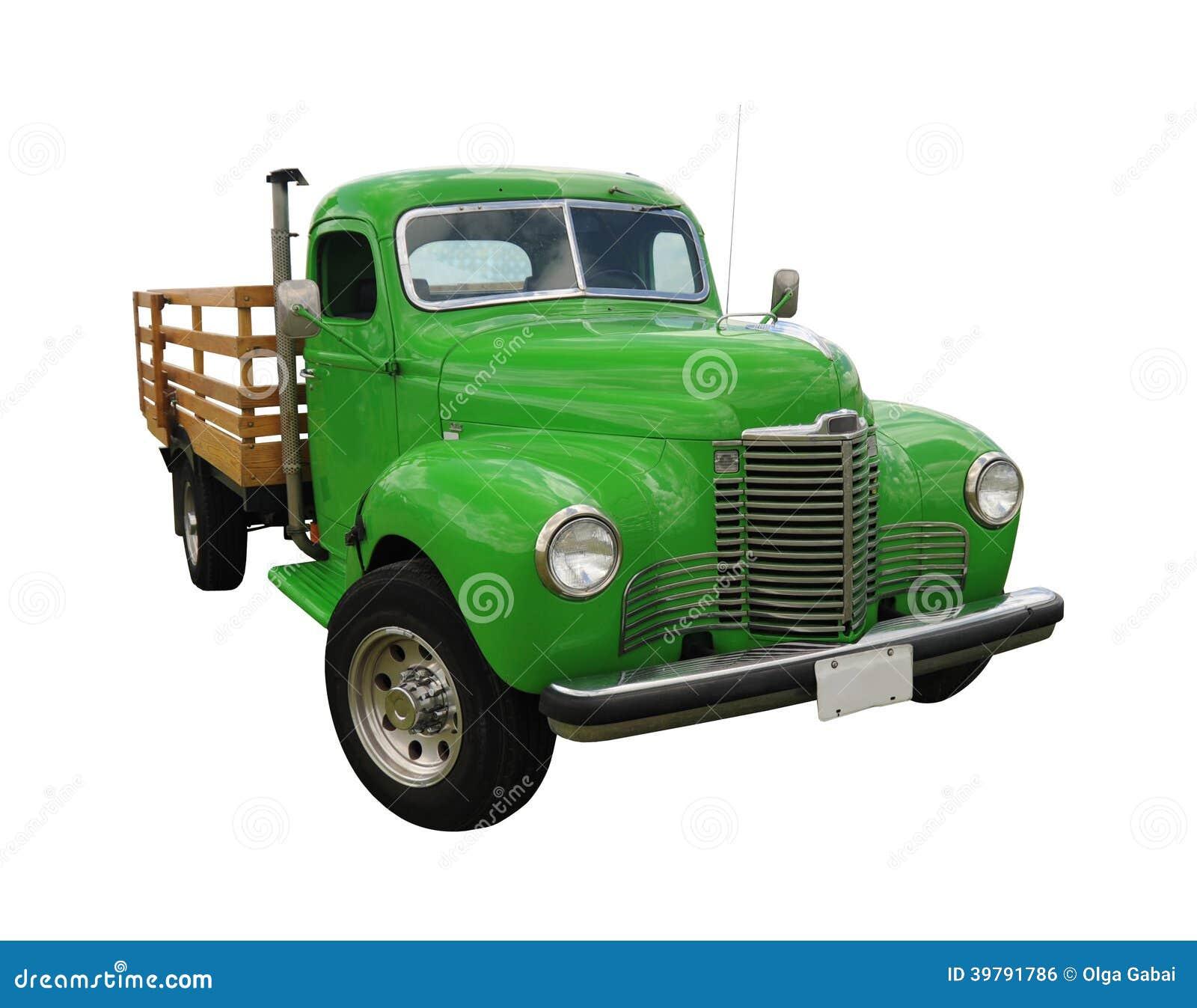Caminhão verde do vintage
