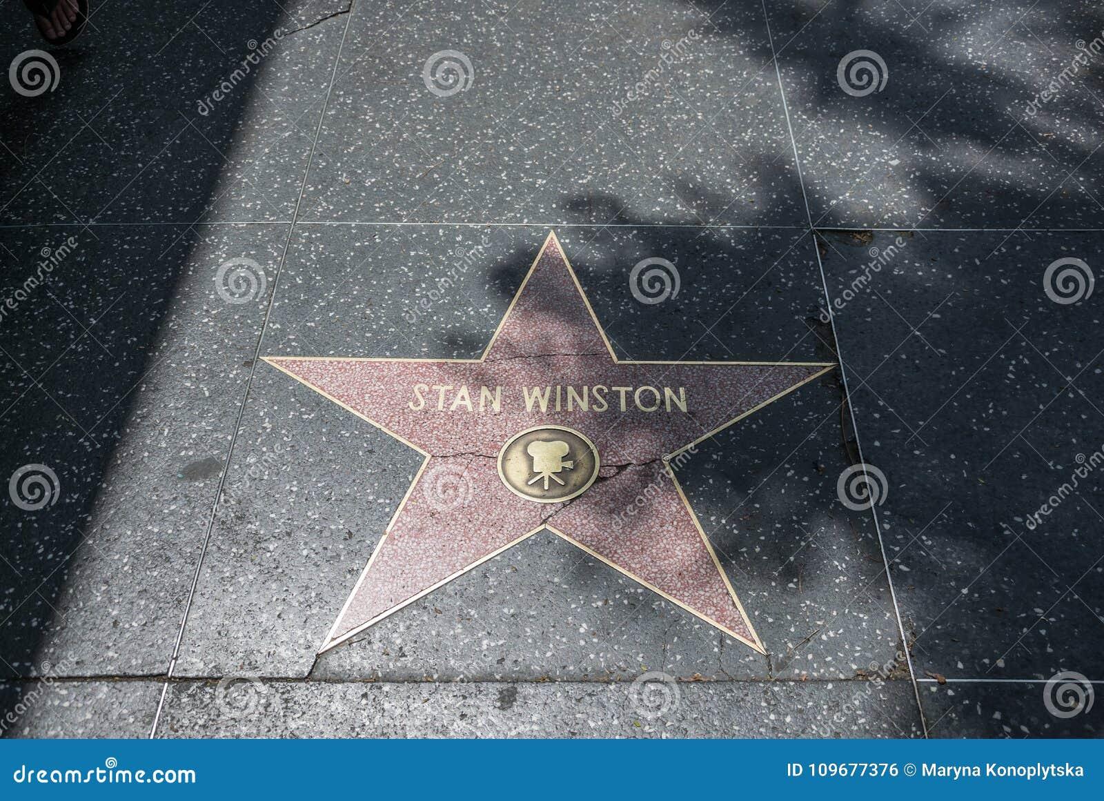 Caminhada de Hollywood da fama Estrelas do ouro de atores famosos