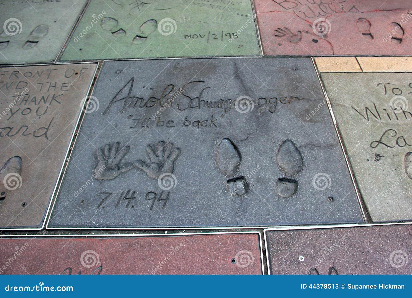 Caminhada de Hollywood da fama no bulevar de Hollywood, Los Angeles, Cali