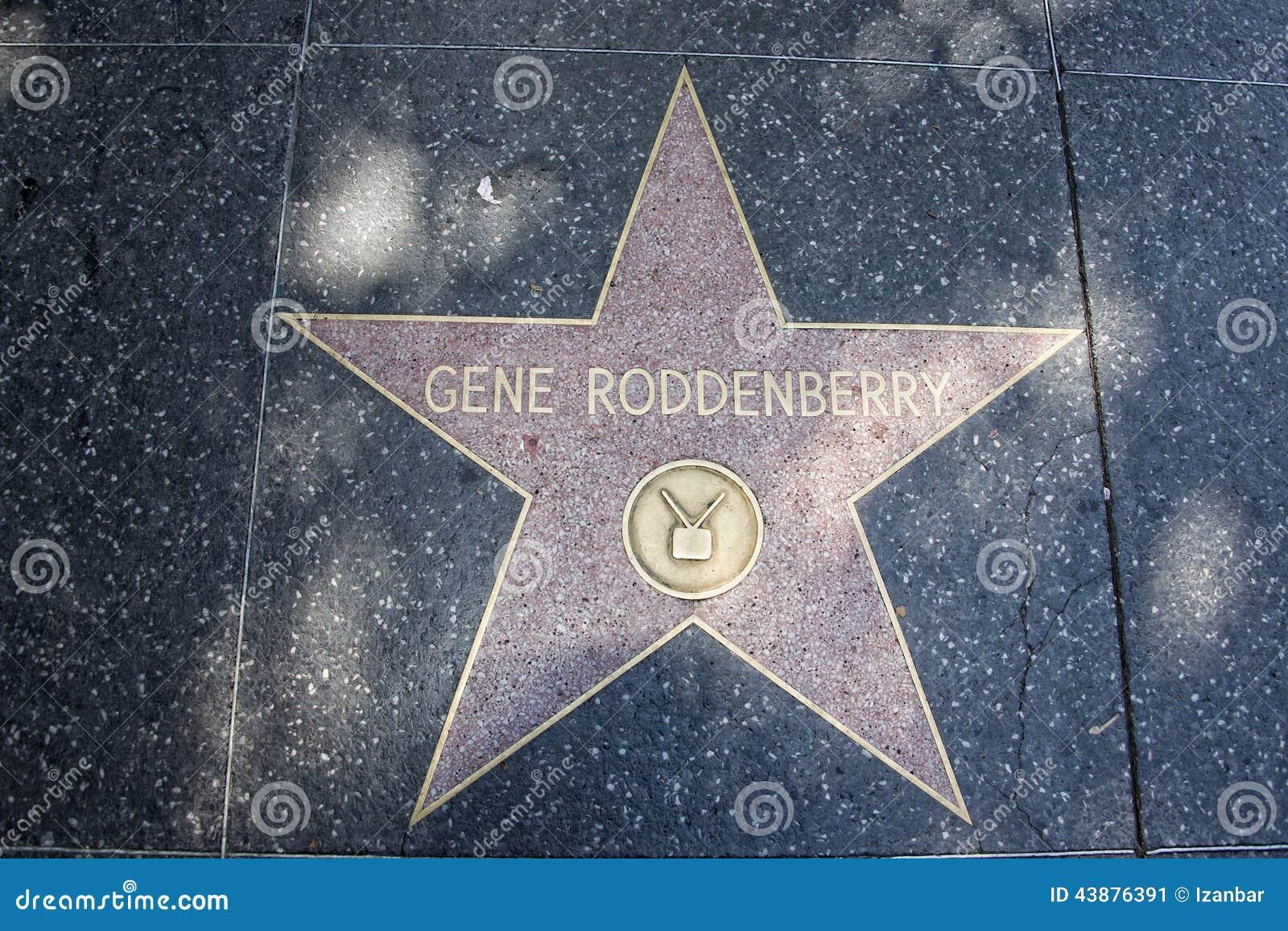 Caminhada de Hollywood do criador de Gene Rodenberry da fama de Star Trek