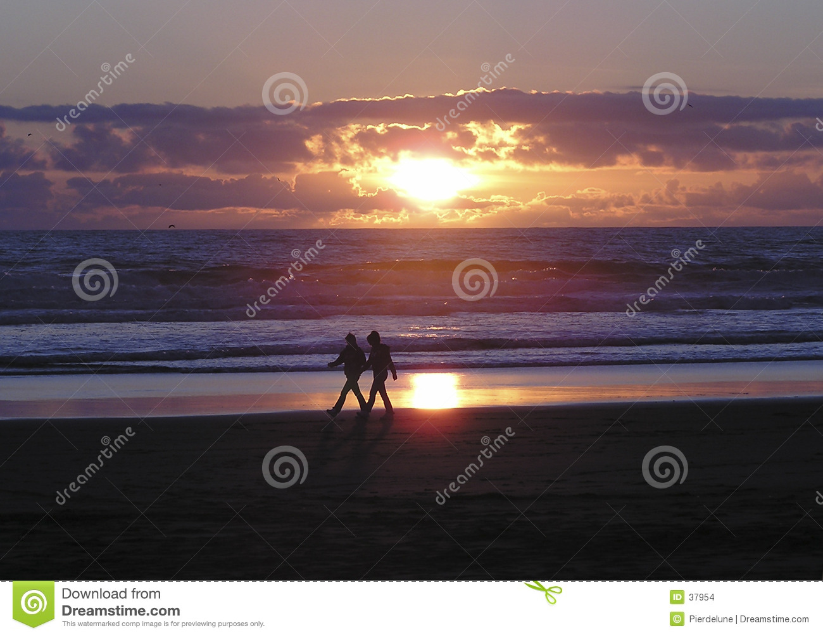Caminhada do amante da praia