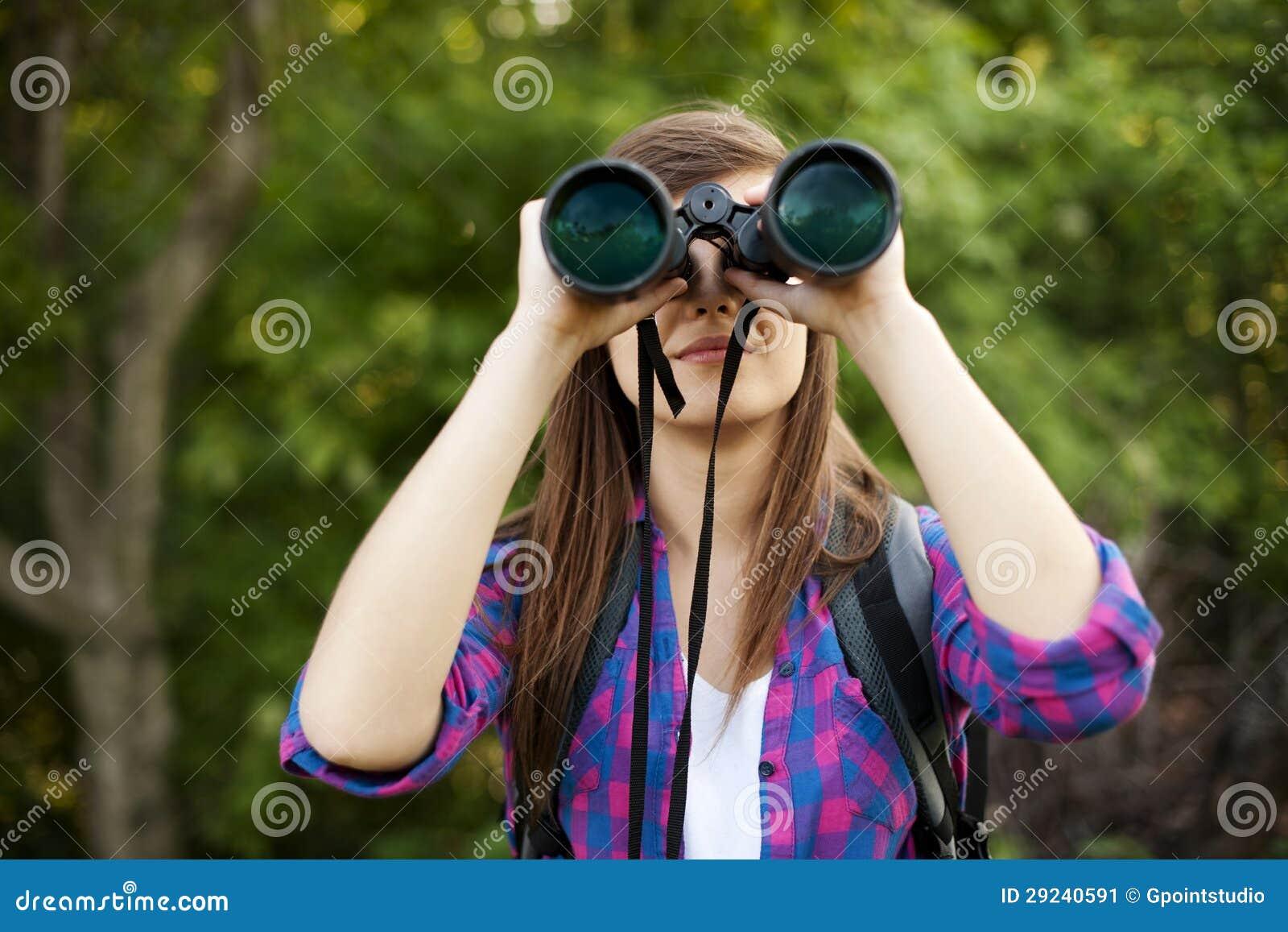 Download Caminhante fêmea imagem de stock. Imagem de floresta - 29240591