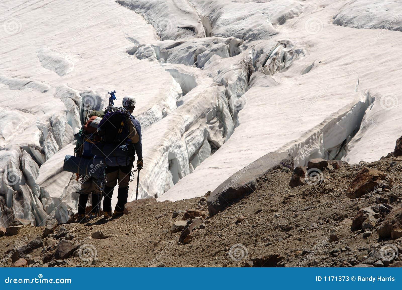 Caminhantes que negligenciam o crevasse
