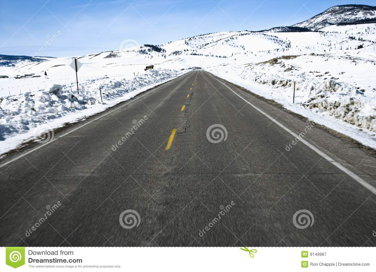 Camino de Colorado en invierno.