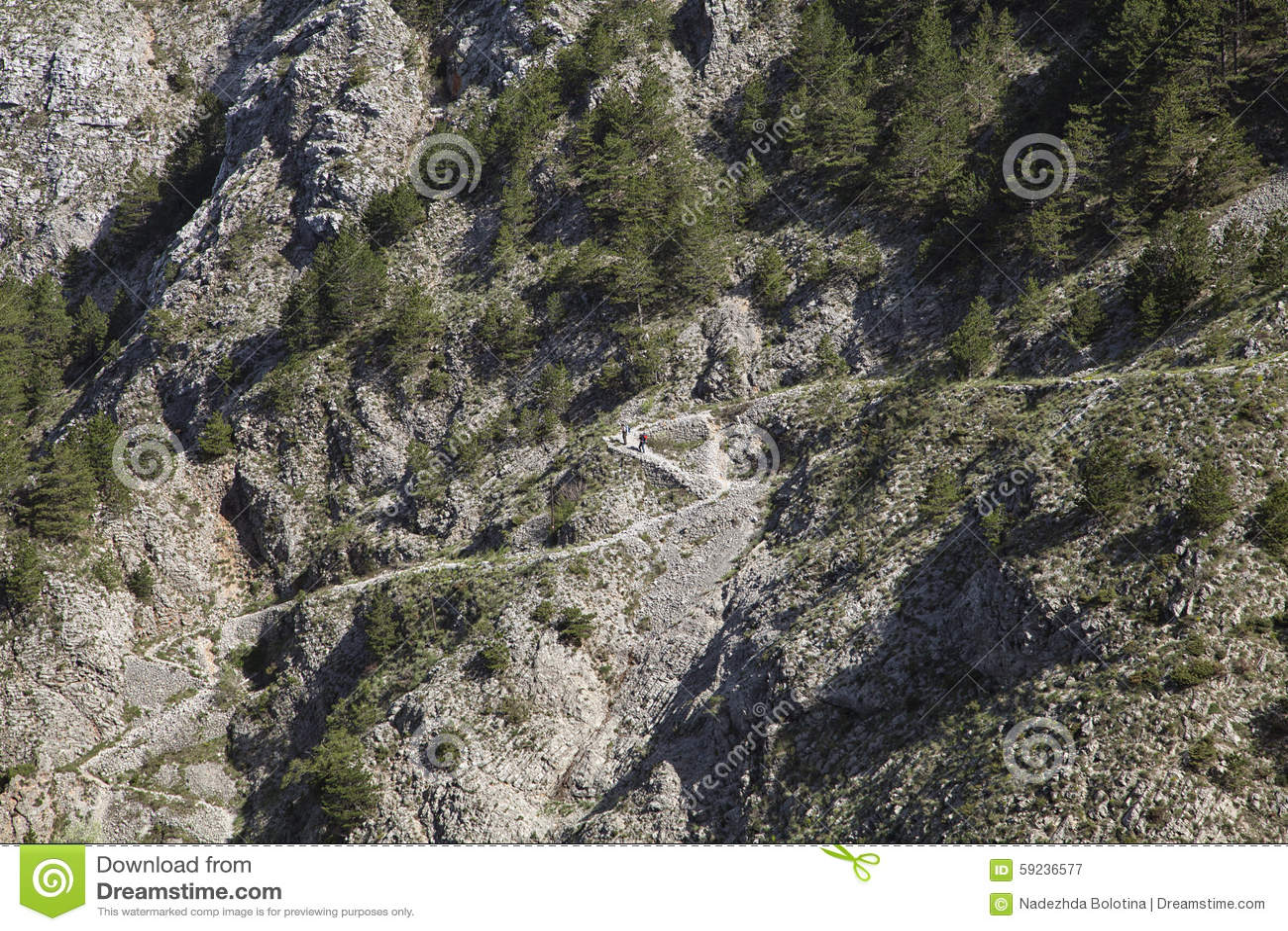 Download Camino de la montaña imagen de archivo. Imagen de urbano - 59236577