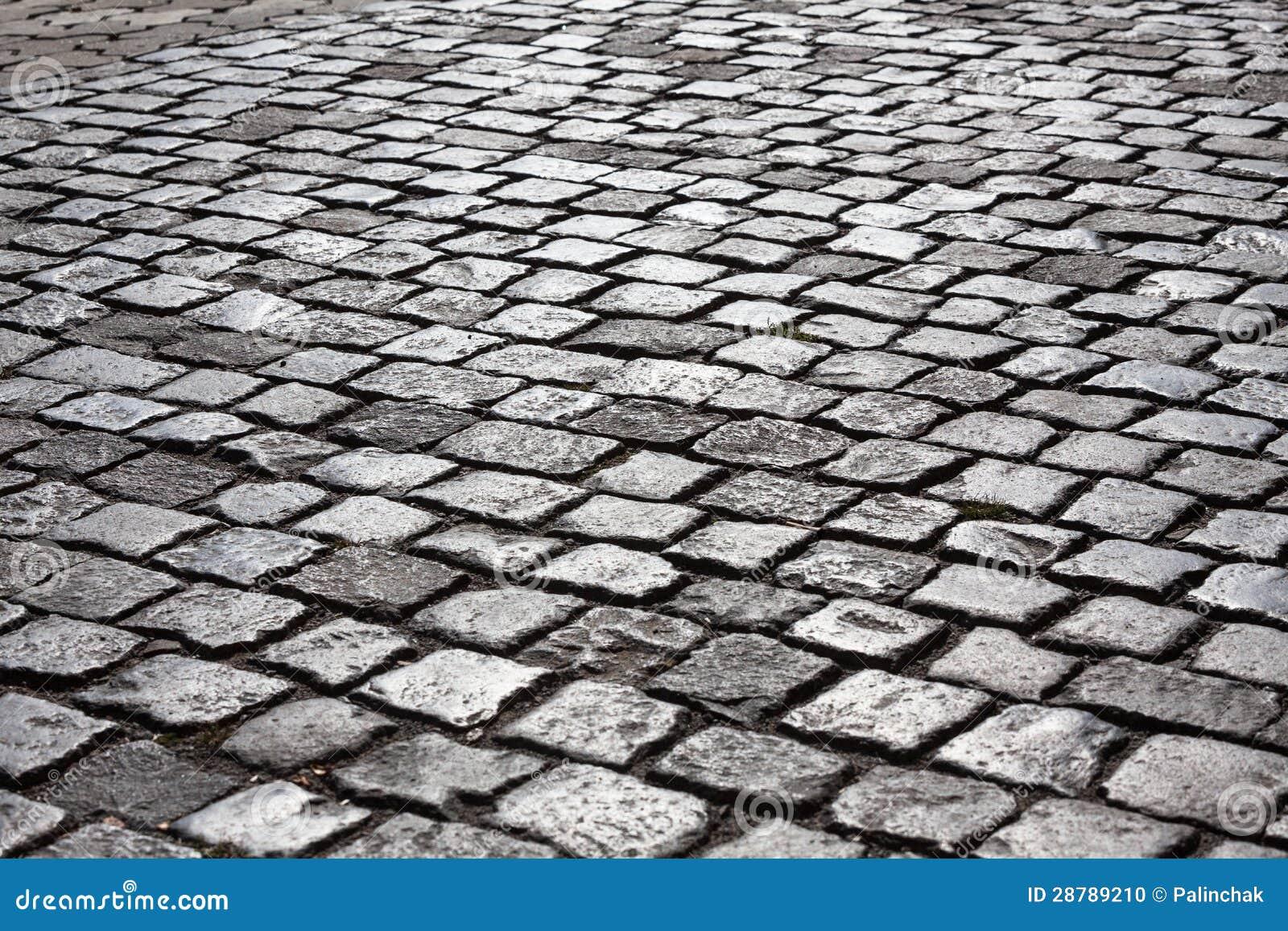 Camino de piedra del adoqu n foto de archivo imagen - Adoquin de piedra ...