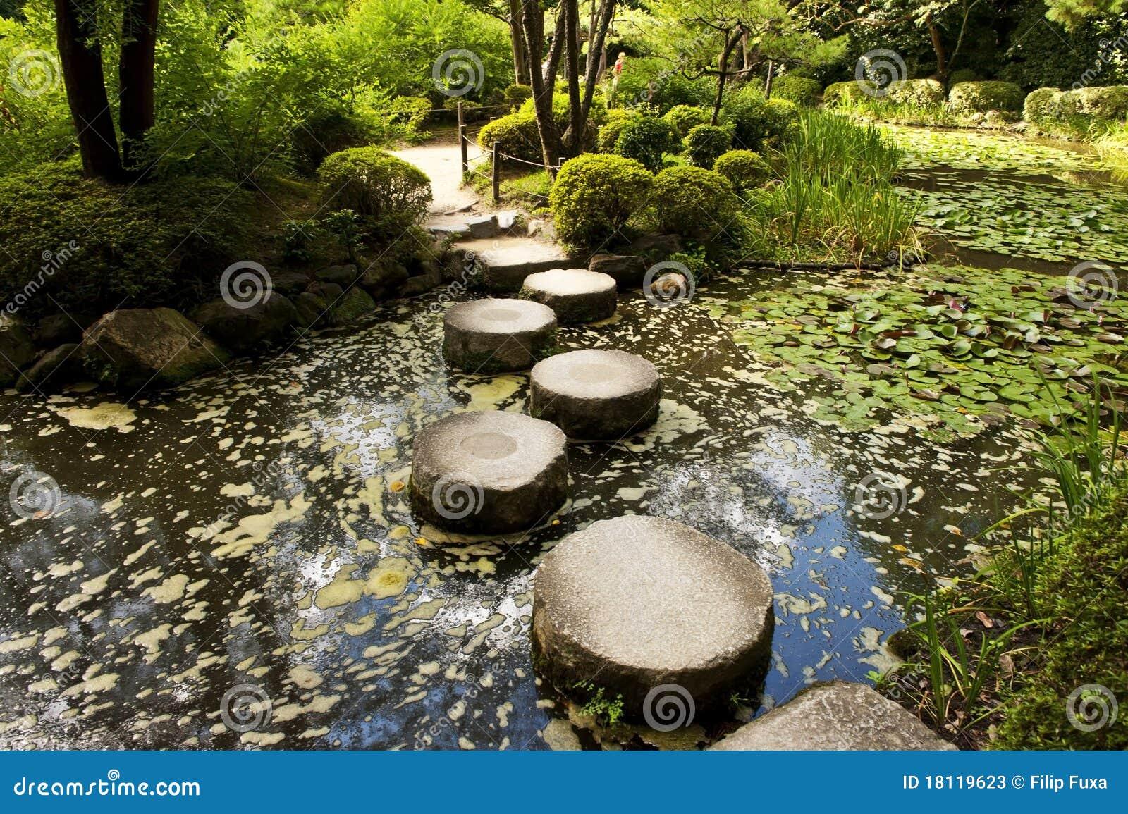 Camino de piedra del zen