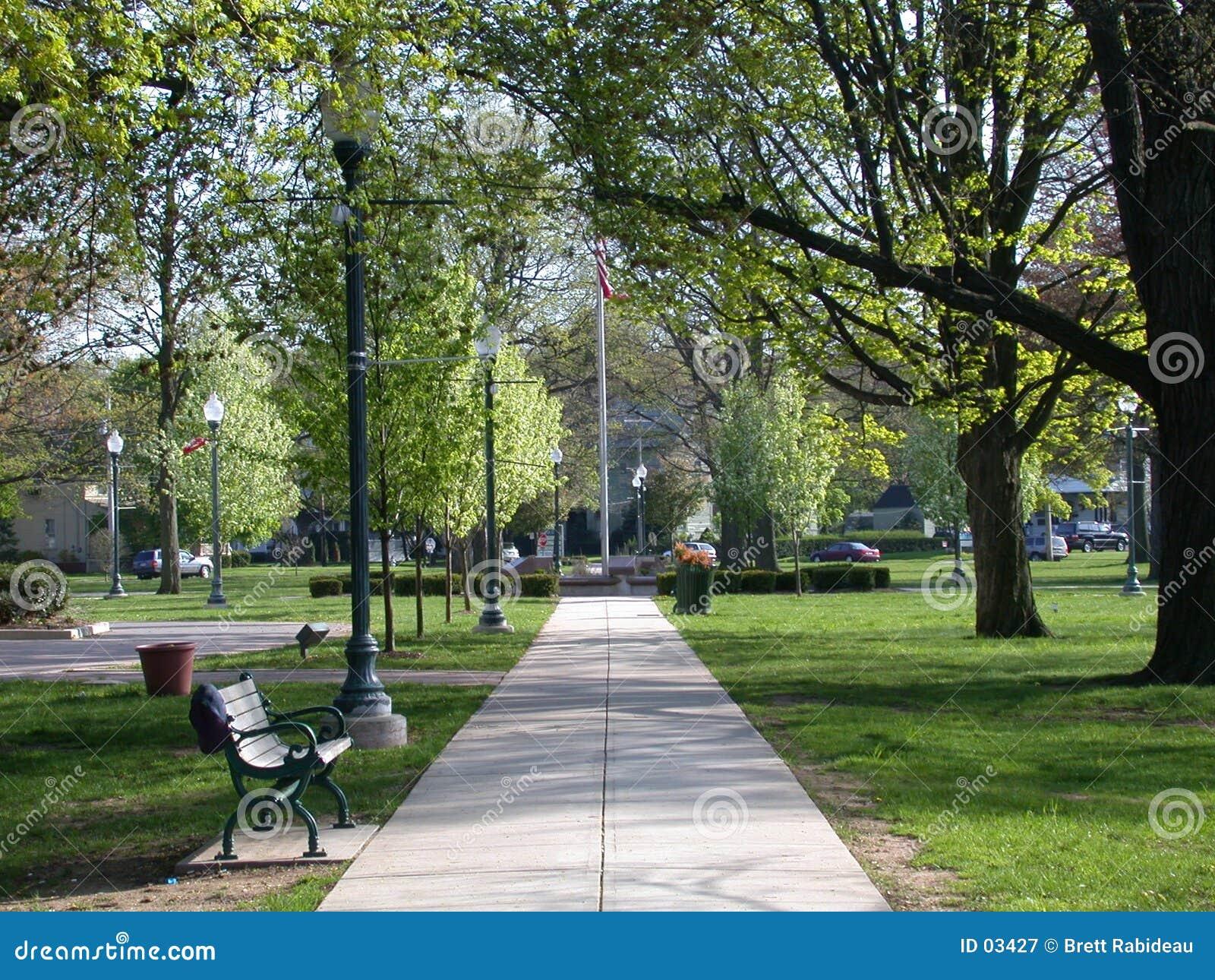 Camino del parque de la ciudad