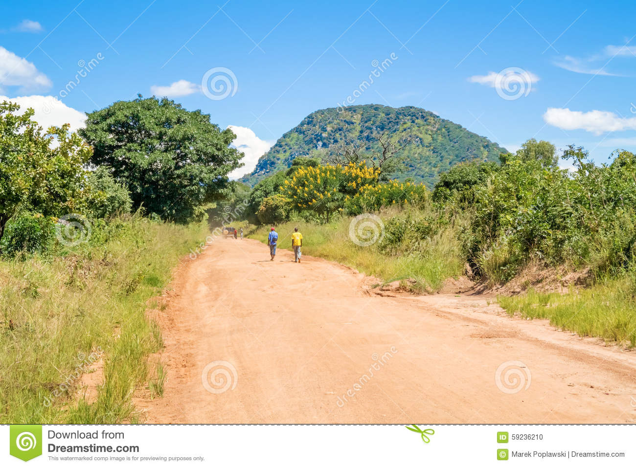 Download Camino en Tanzania imagen editorial. Imagen de outdoors - 59236210