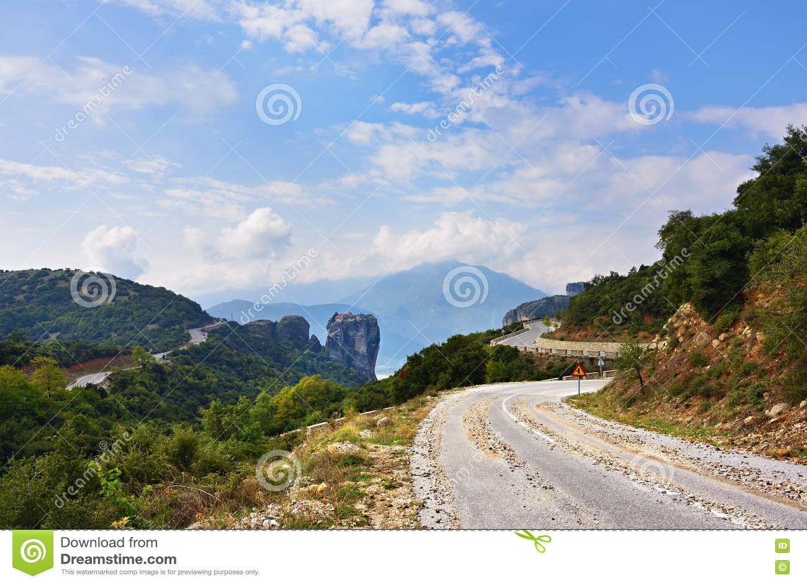 Camino a Meteora, Grecia