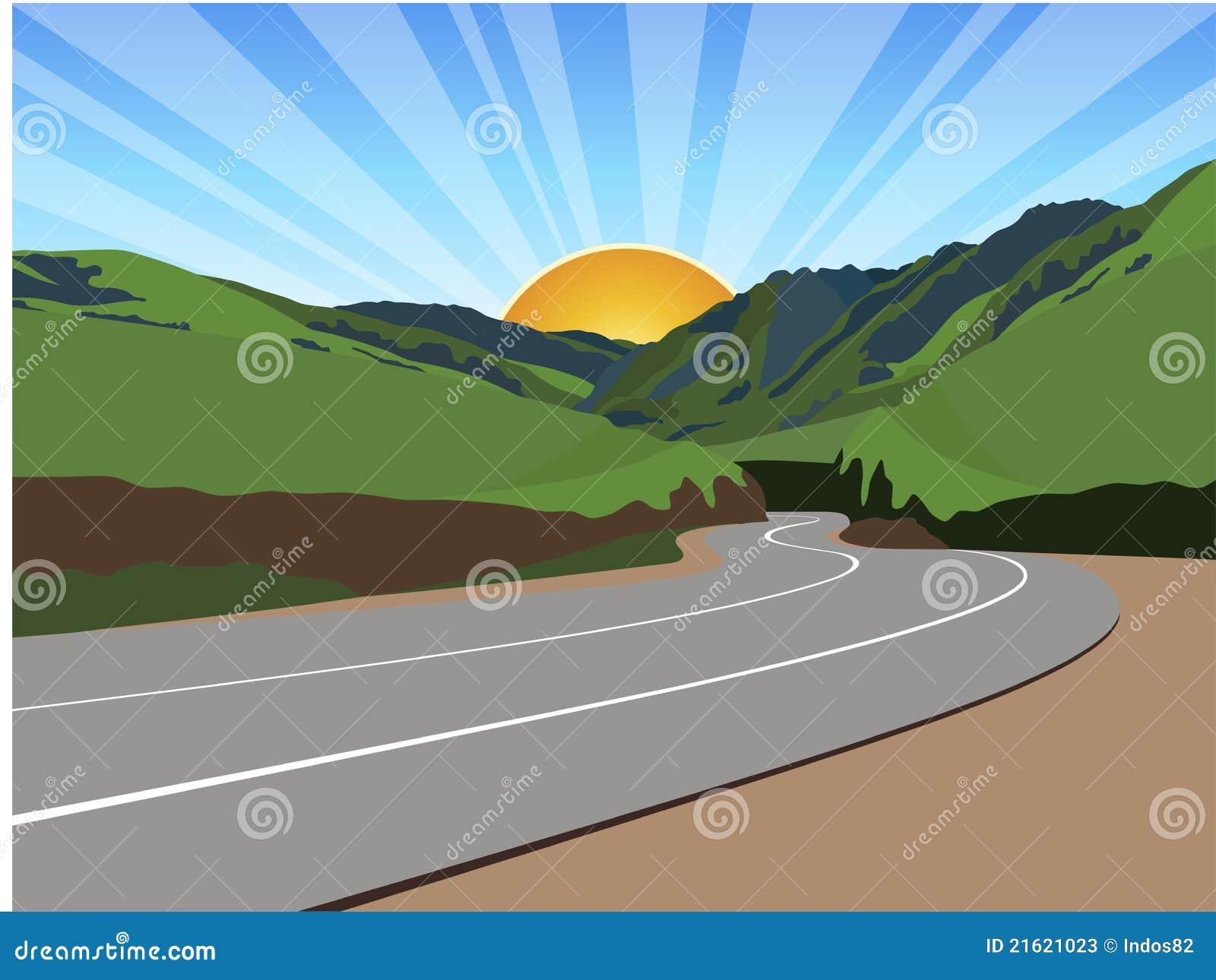 Camino a través de las montañas