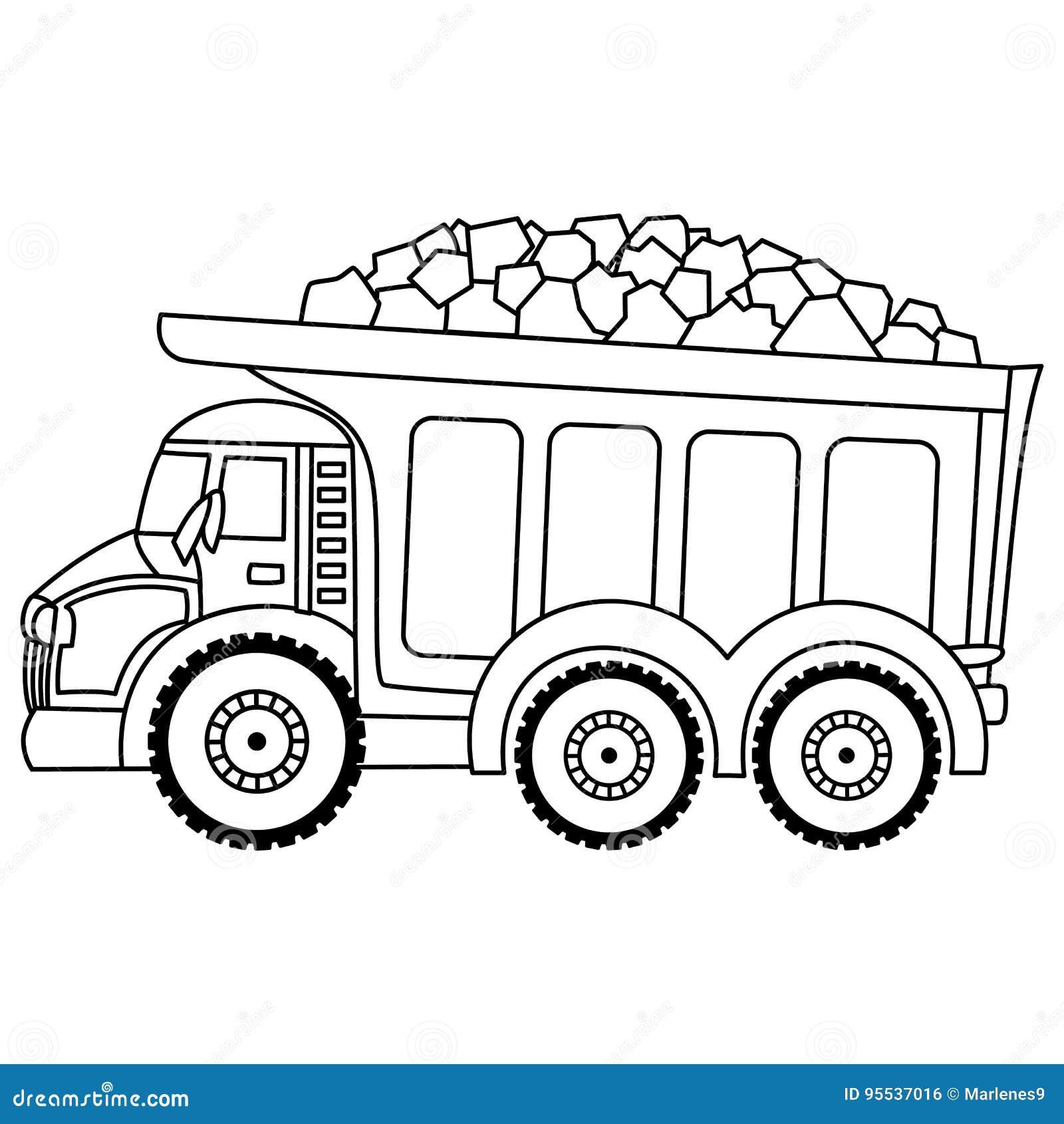 Camion à benne basculante de vecteur Camion de vecteur