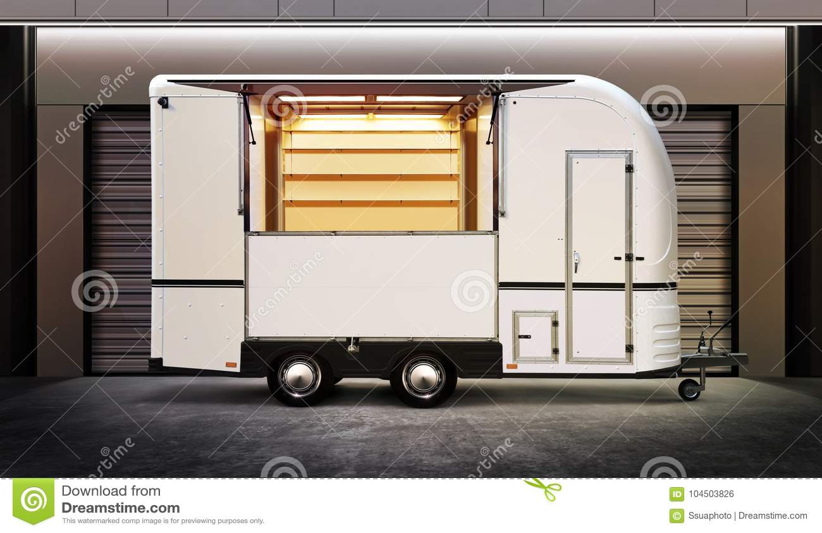Camion bianco dell alimento