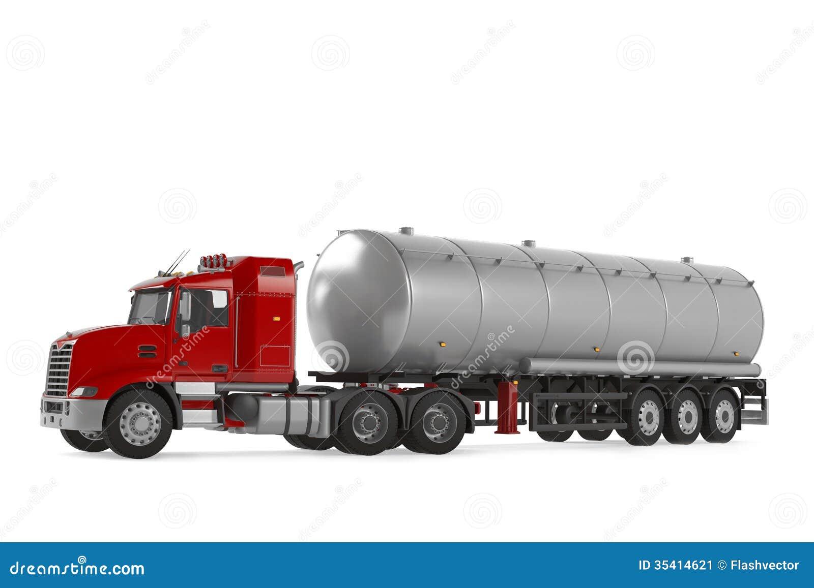 camion citerne aspirateur de gaz combustible d 39 isolement image stock image 35414621. Black Bedroom Furniture Sets. Home Design Ideas