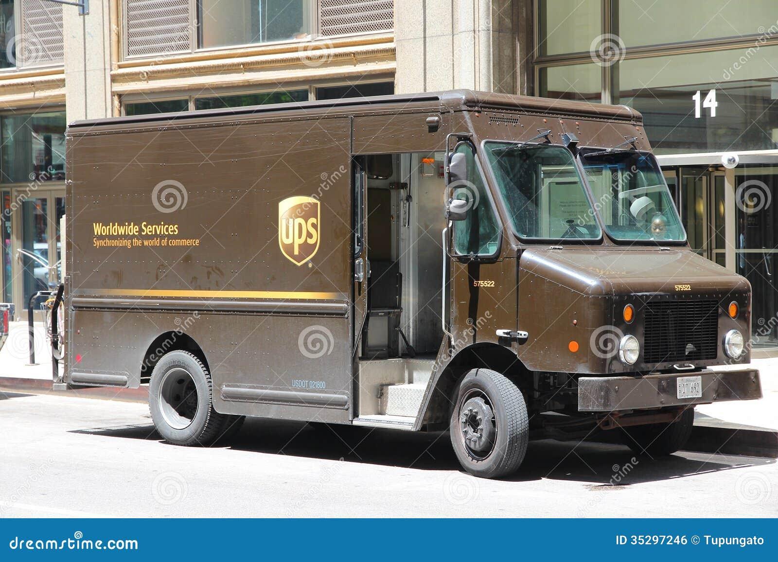 Camion D UPS éditorial Image