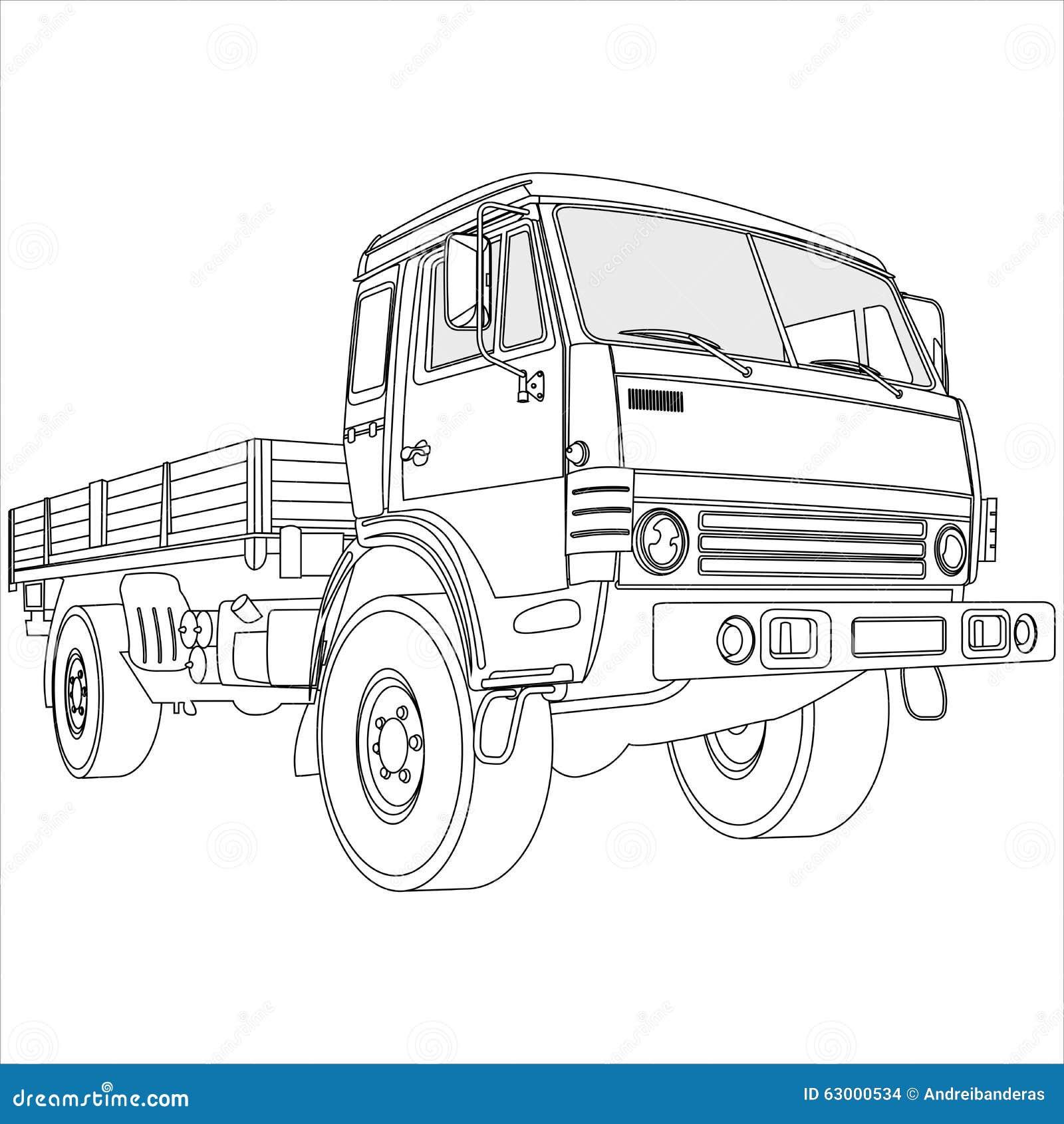 Camion de bâti plat