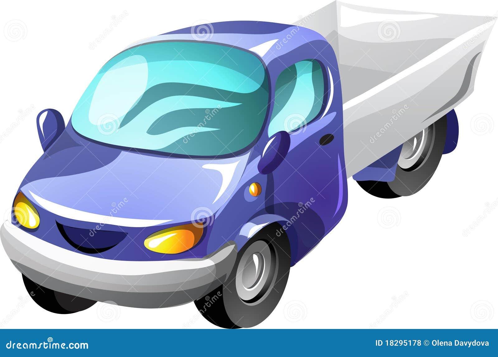 Camion De Camionnette De Livraison De Dessin Animé