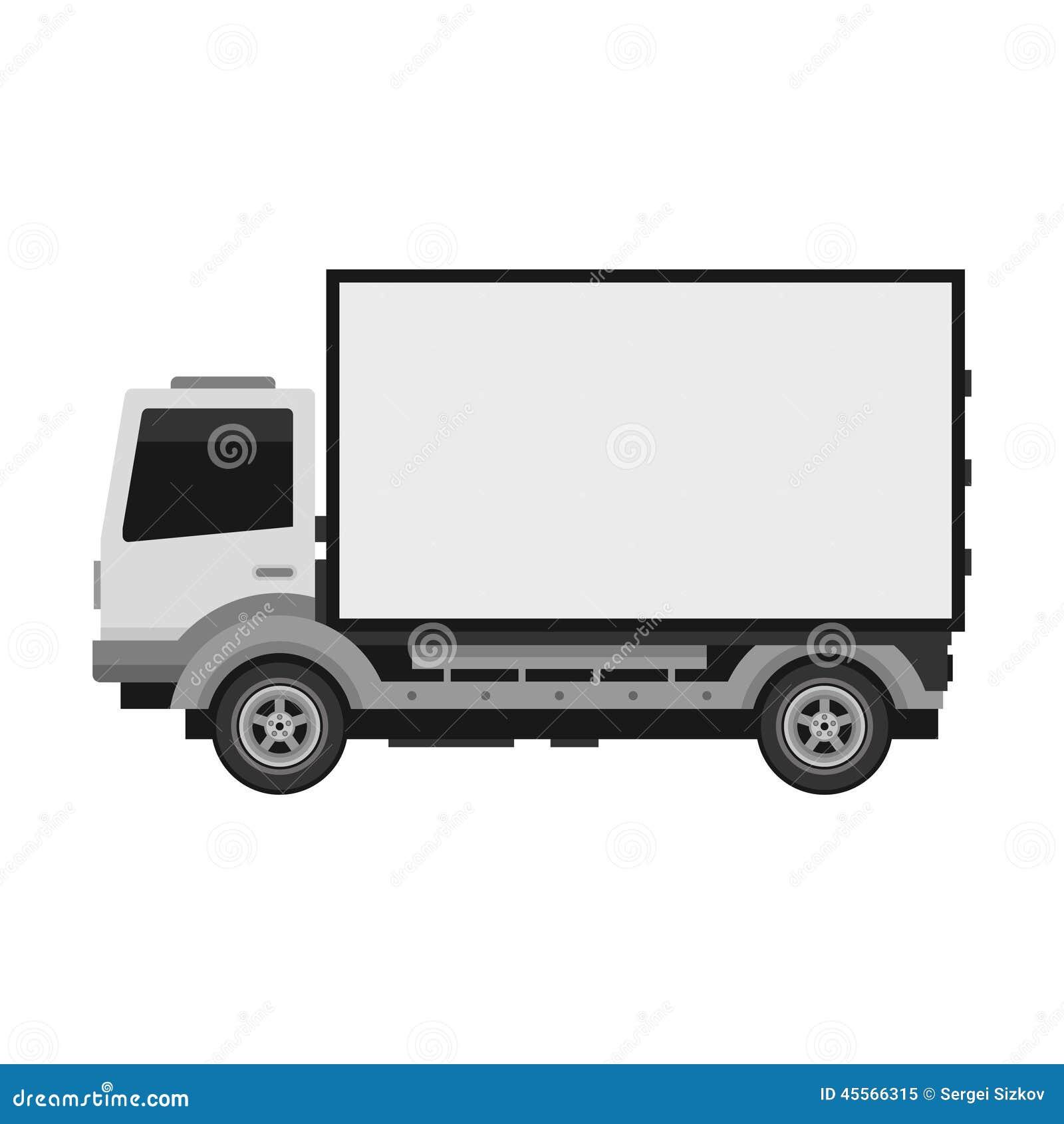 camion de livraison avec le panneau d 39 affichage mobile vide vecteur illustration de vecteur. Black Bedroom Furniture Sets. Home Design Ideas