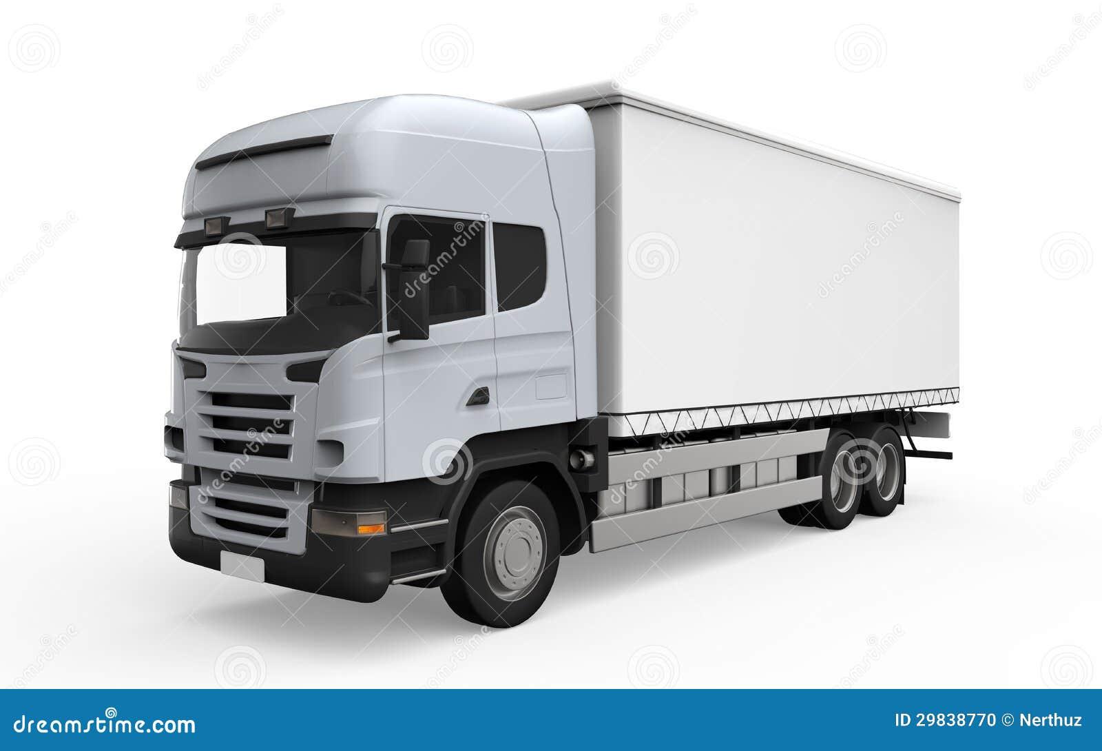 camion de livraison de cargaison d 39 isolement sur le fond blanc photo stock image 29838770. Black Bedroom Furniture Sets. Home Design Ideas