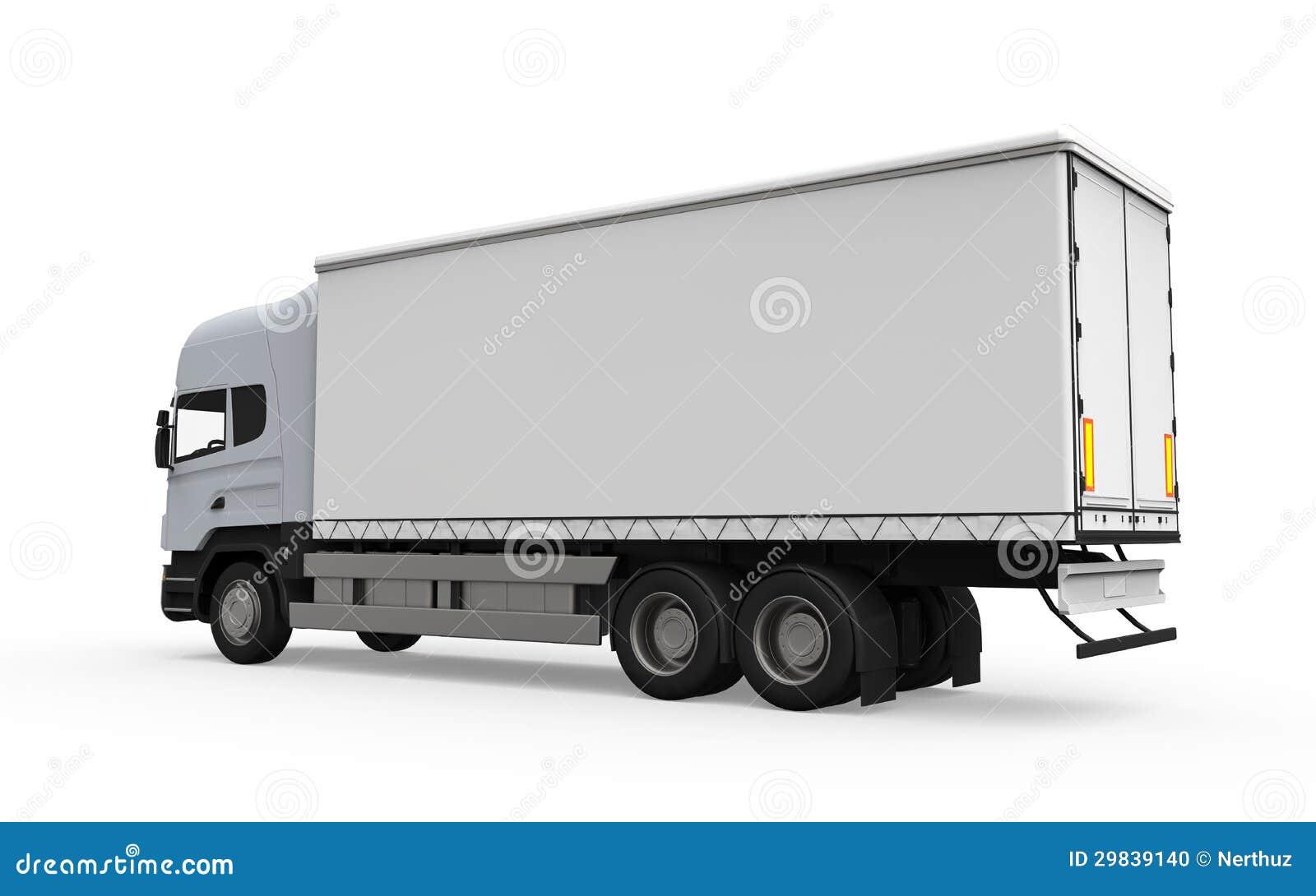 camion de livraison de cargaison d 39 isolement sur le fond blanc photo stock image 29839140. Black Bedroom Furniture Sets. Home Design Ideas