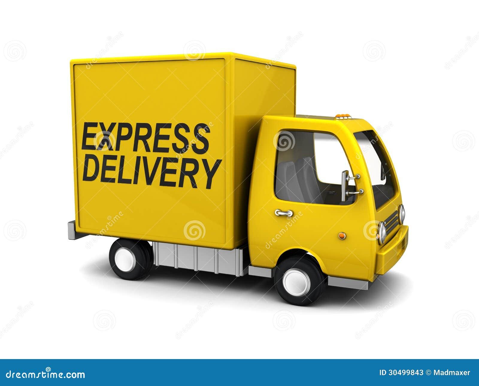 camion de livraison express illustration stock illustration du cordon libre 30499843. Black Bedroom Furniture Sets. Home Design Ideas