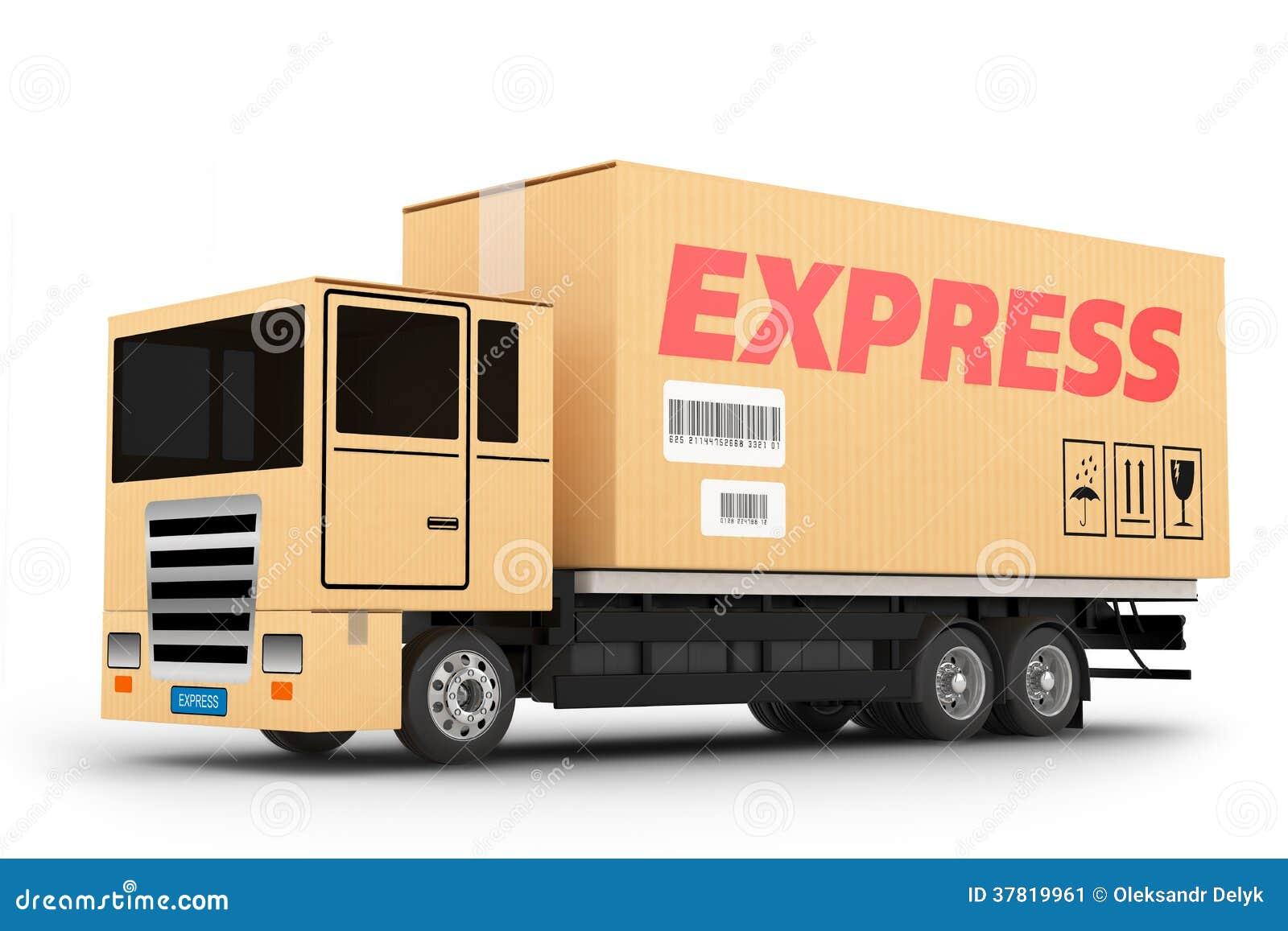 camion de livraison express image stock image 37819961. Black Bedroom Furniture Sets. Home Design Ideas