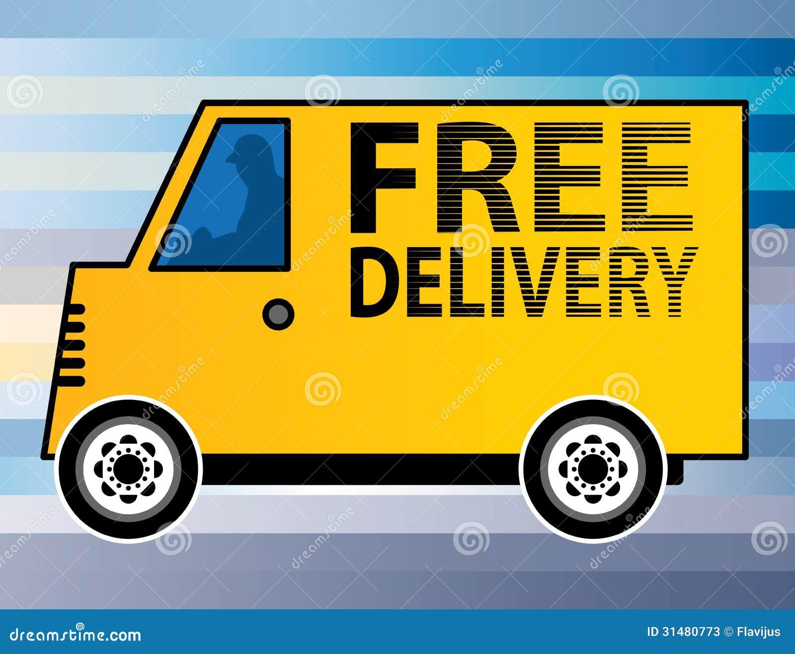 camion de livraison gratuit illustration de vecteur illustration du tiquette industriel. Black Bedroom Furniture Sets. Home Design Ideas