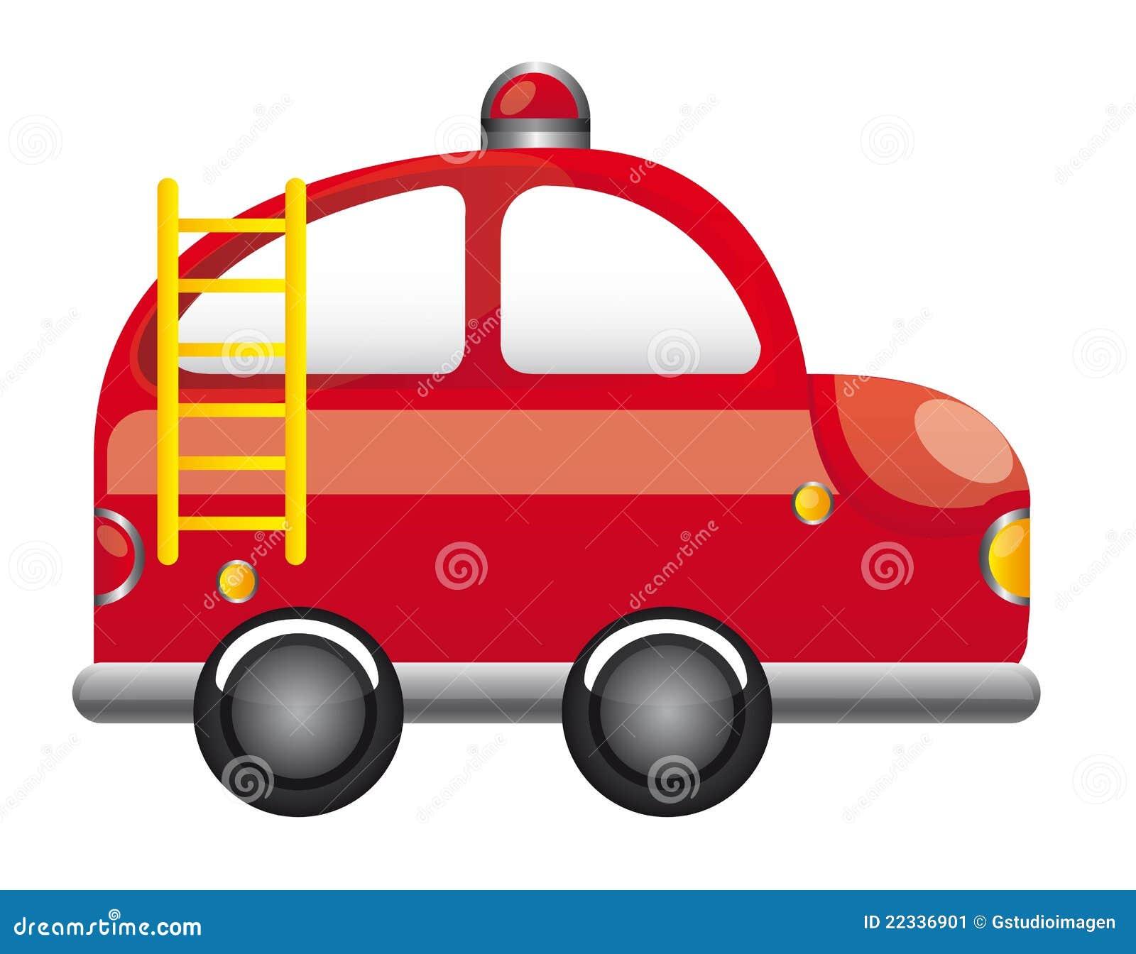 Camion de pompiers illustration de vecteur illustration - Dessiner un camion de pompier ...