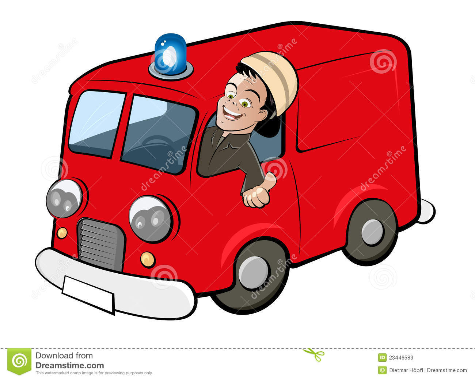 Camion de pompiers de dessin anim photos stock image 23446583 - Dessin camion de pompier ...