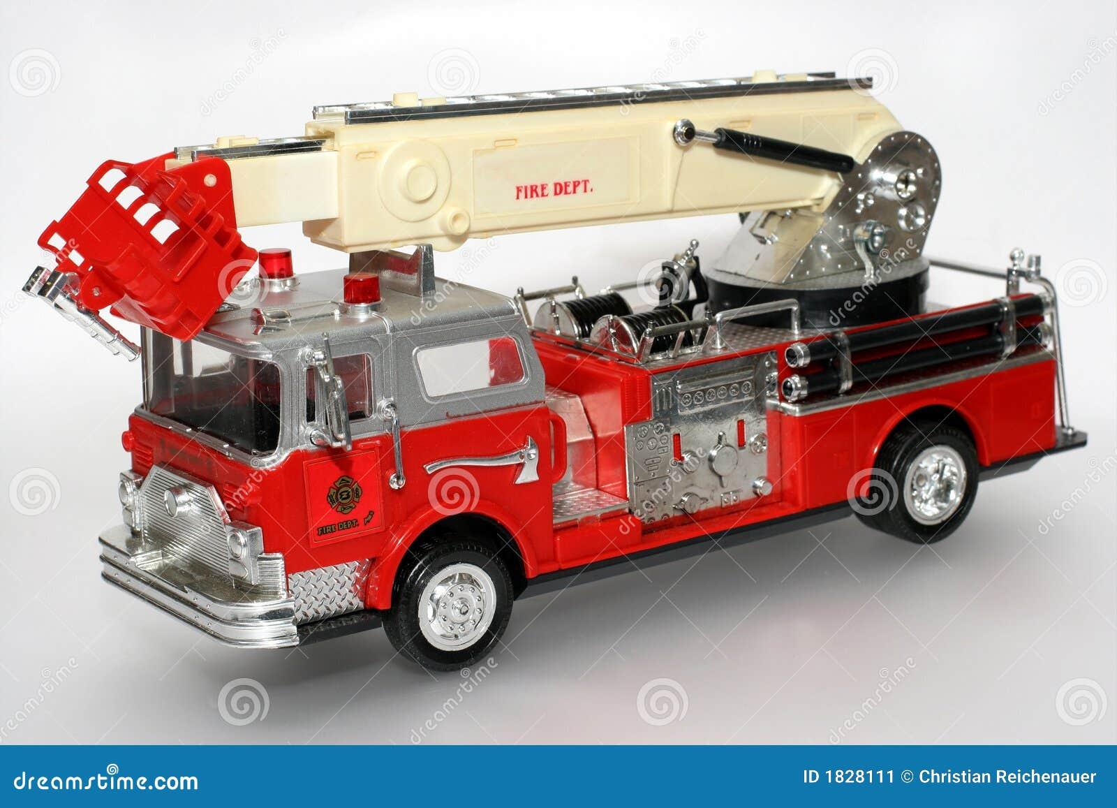 camion de pompiers en plastique de jouet image stock. Black Bedroom Furniture Sets. Home Design Ideas