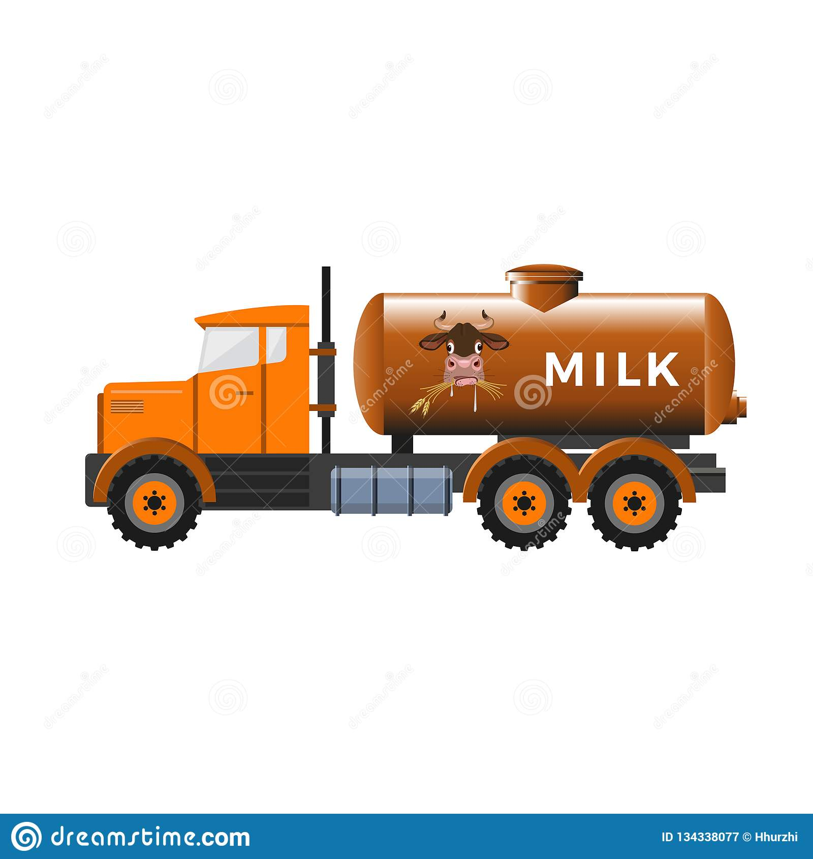 Camion de réservoir à lait