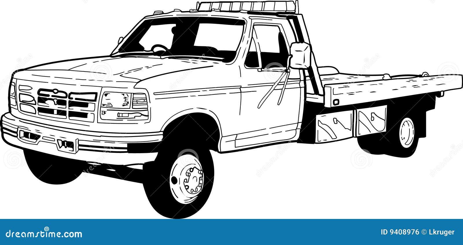 camion de remorquage illustration de vecteur  illustration du remorquer