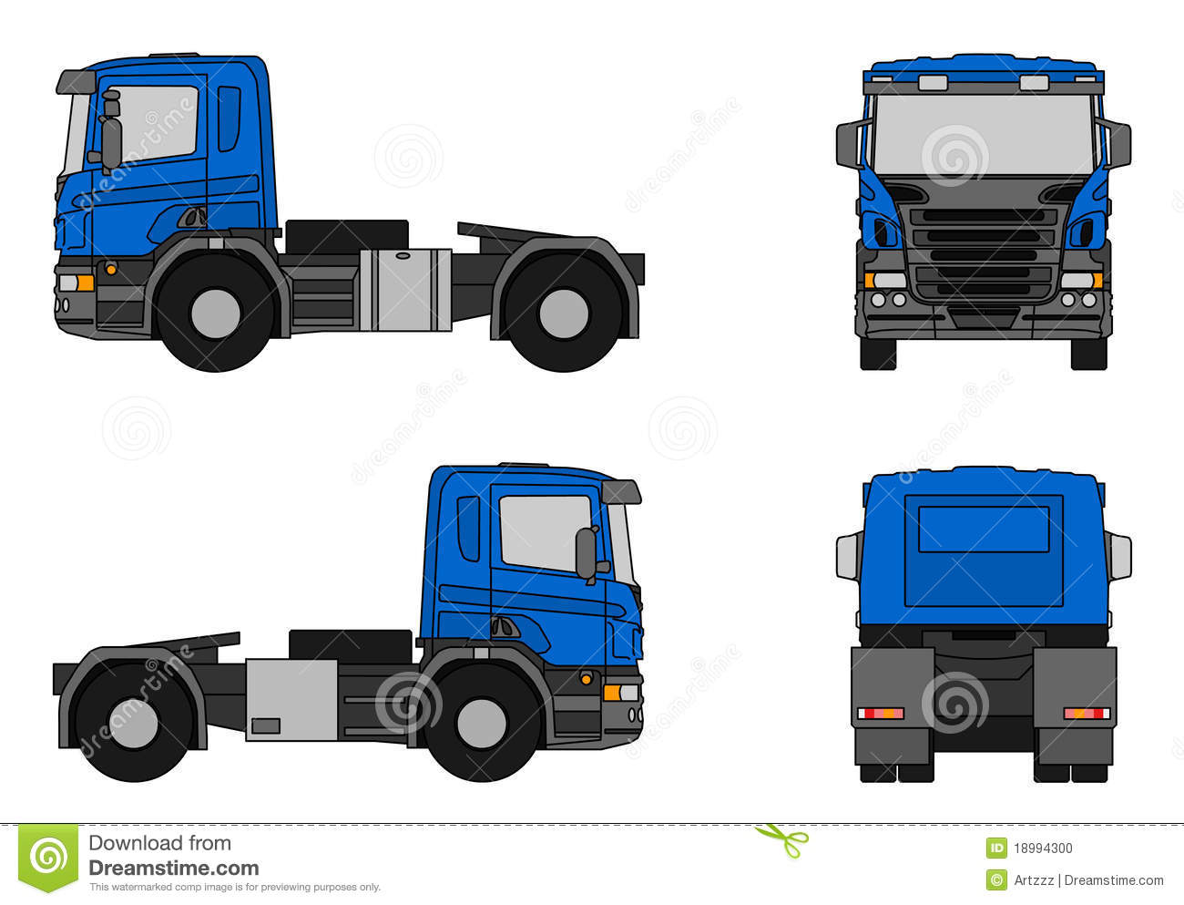 Camion de semi remorque illustration stock illustration - Dessin de camion semi remorque ...