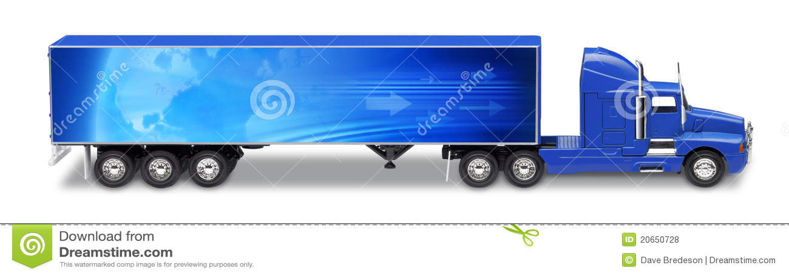 camion de semi remorque de transport photo stock image 20650728. Black Bedroom Furniture Sets. Home Design Ideas