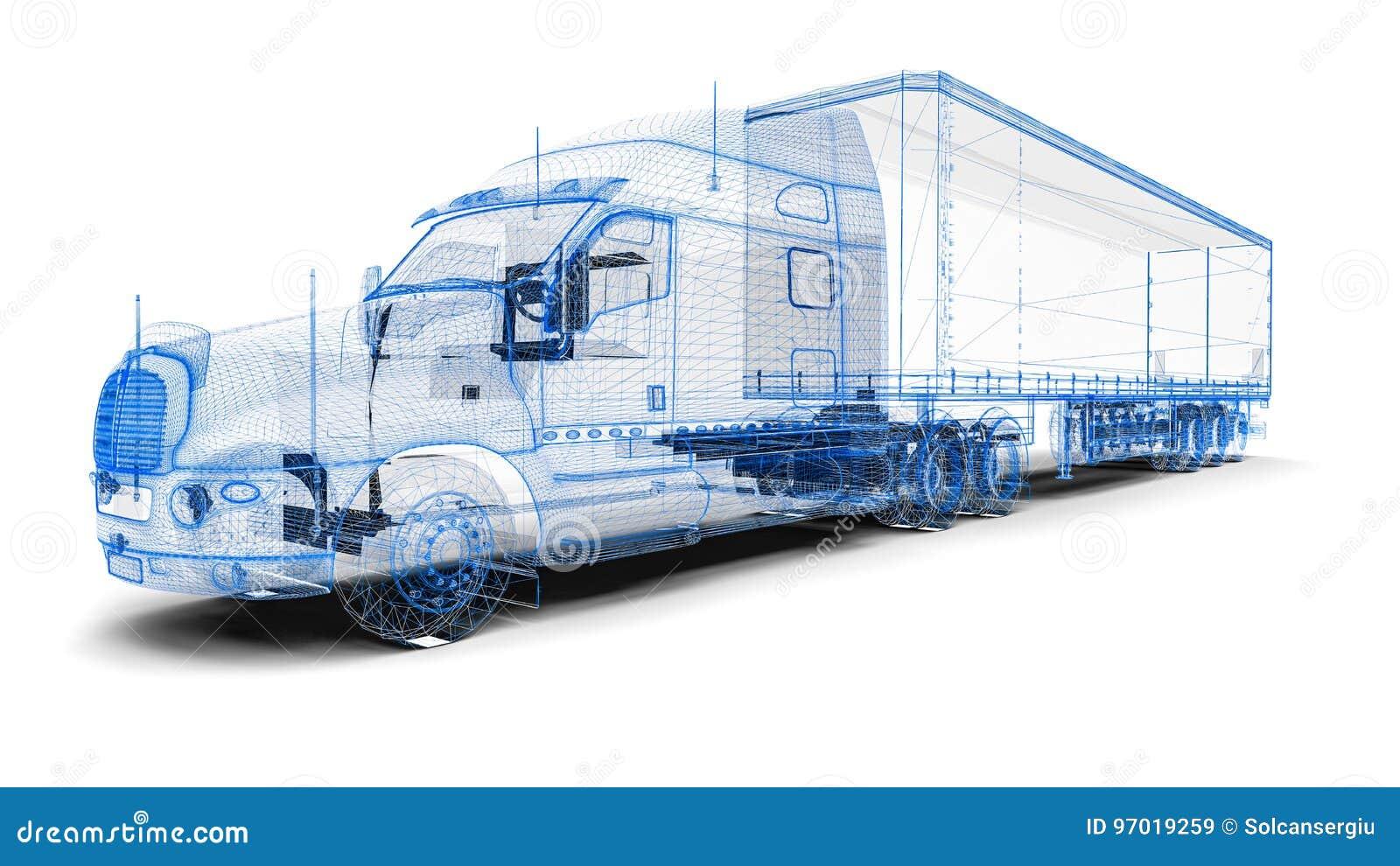 Camion de Wireframe