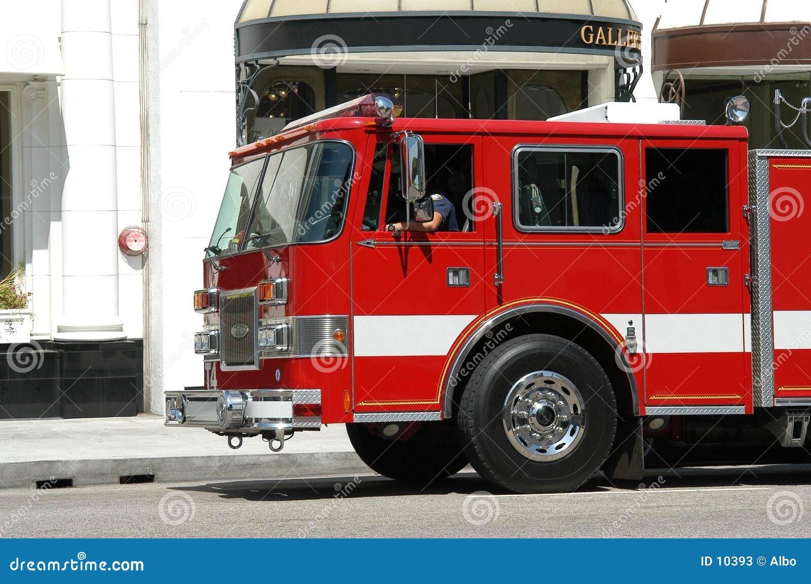 Camion del corpo dei vigili del fuoco