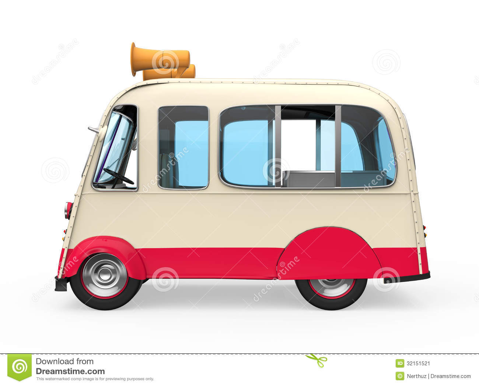 Camion Del Gelato Illustrazione Di Stock Illustrazione Di Dolce