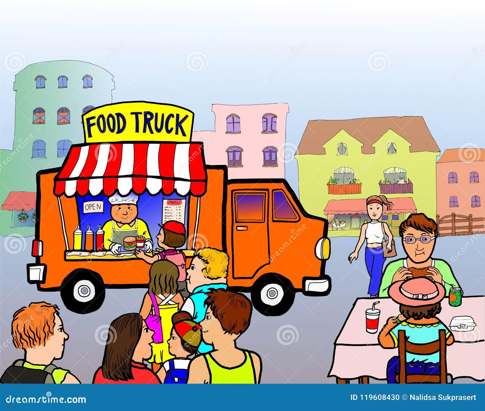 Camion dell alimento della via