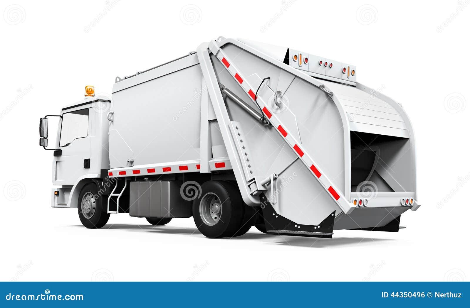 Camion di immondizia isolato