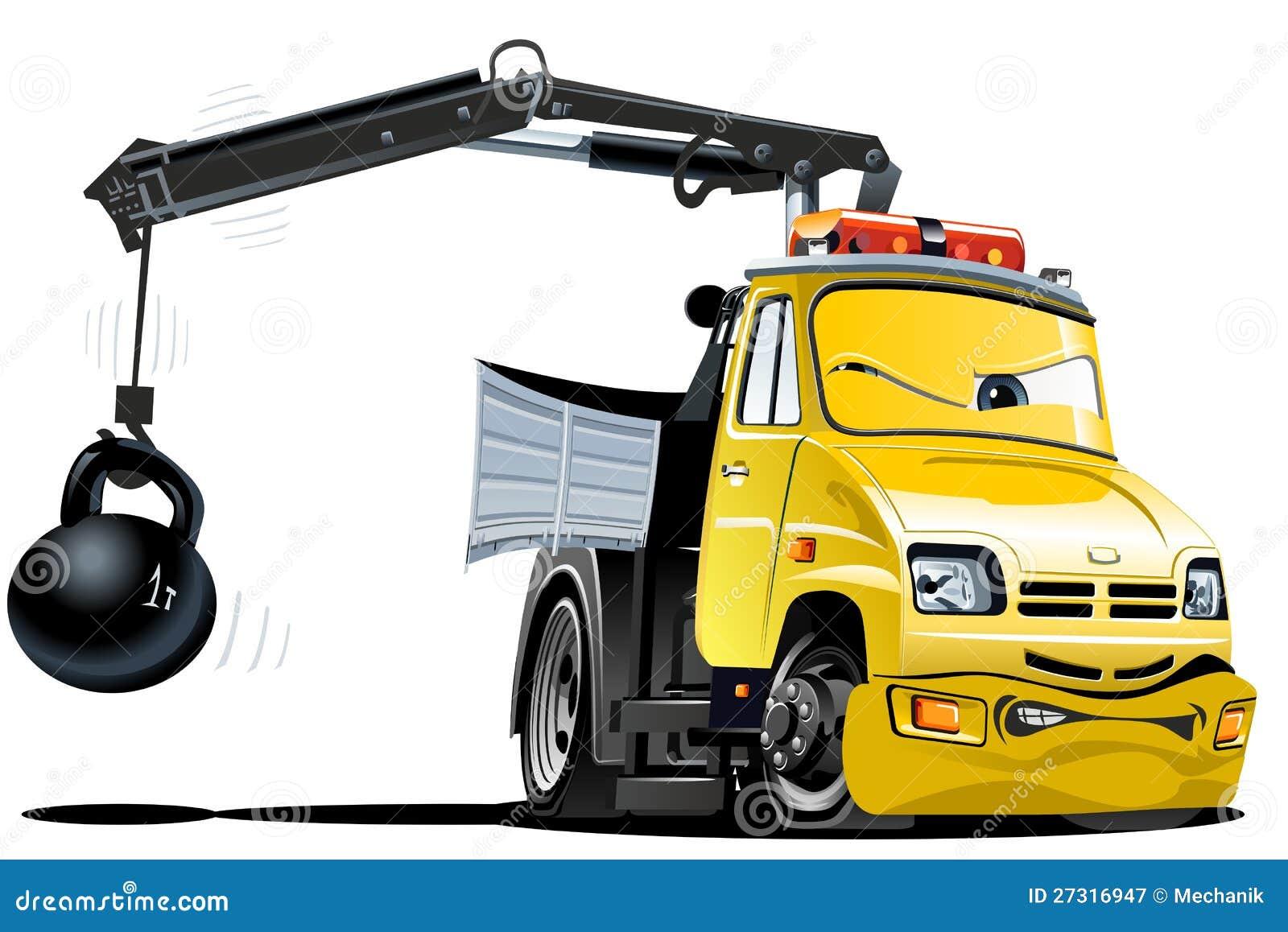 Camion di rimorchio del fumetto di vettore
