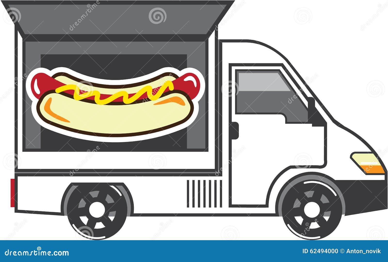 Camion di Van vector Food di approvvigionamento