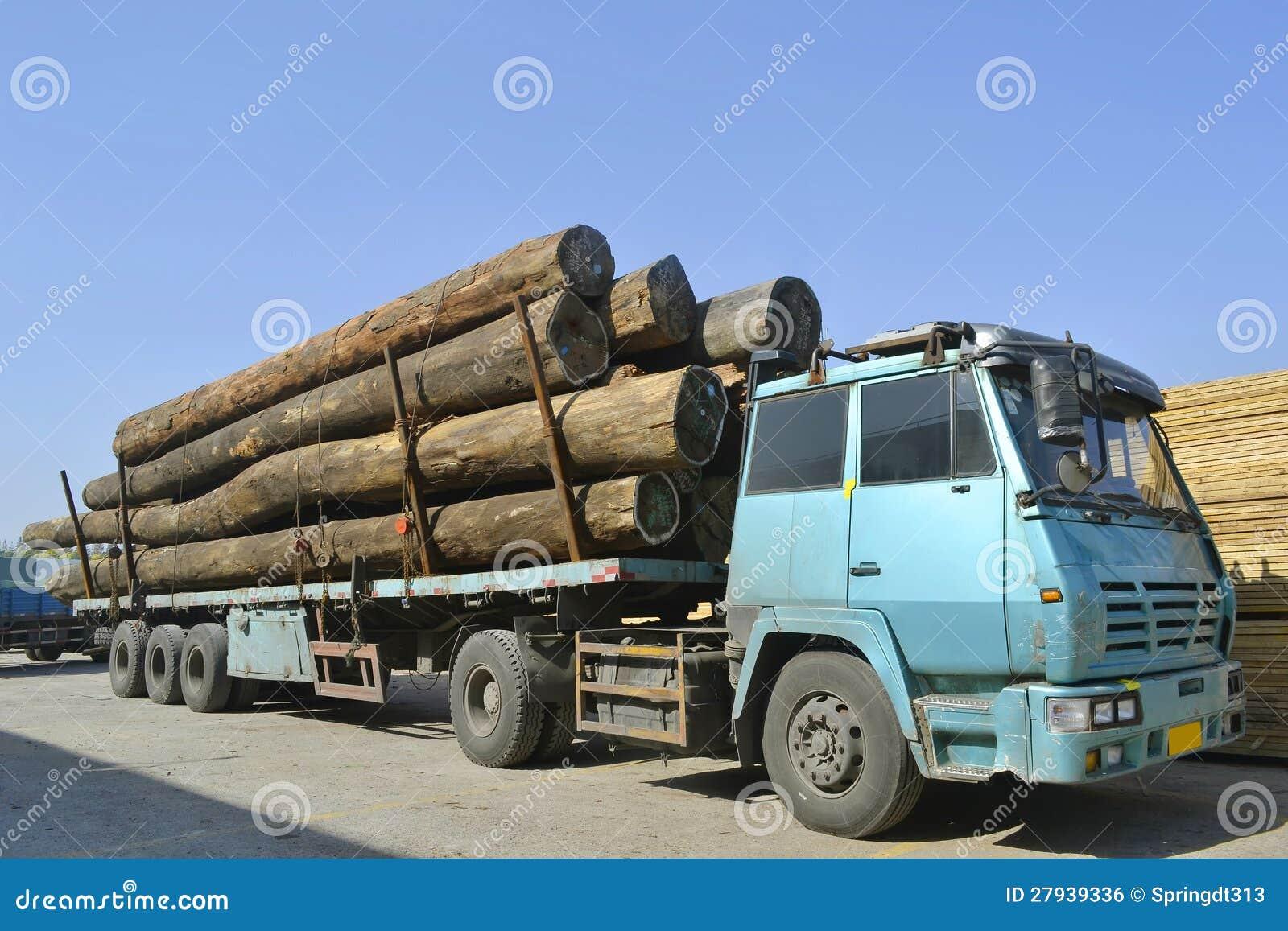 Camion En Bois De Transport Image libre de droits  Image 27939336 ~ Camion Transport De Bois