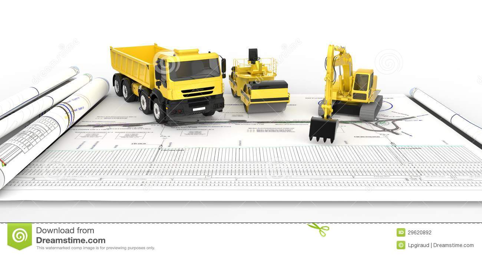 Camion per la costruzione di strade illustrazione di stock for Disegnare piani di costruzione online gratuitamente