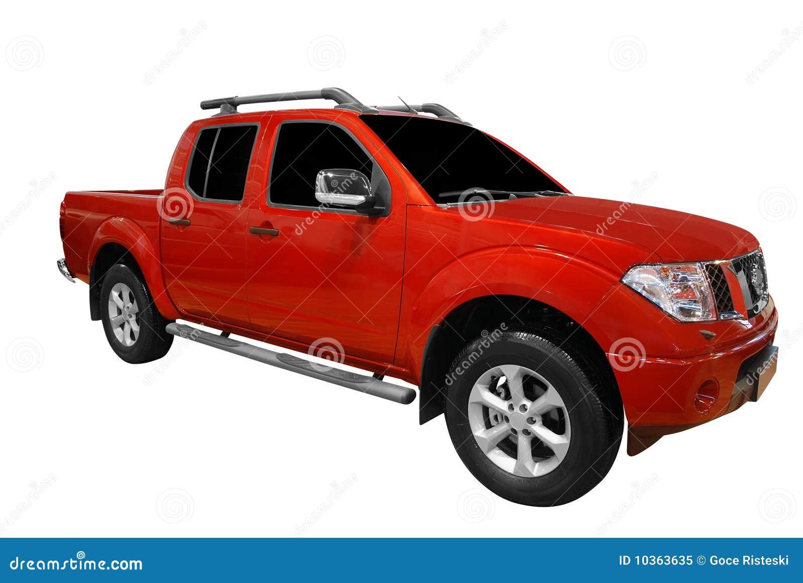 Camion rouge de sélection vers le haut