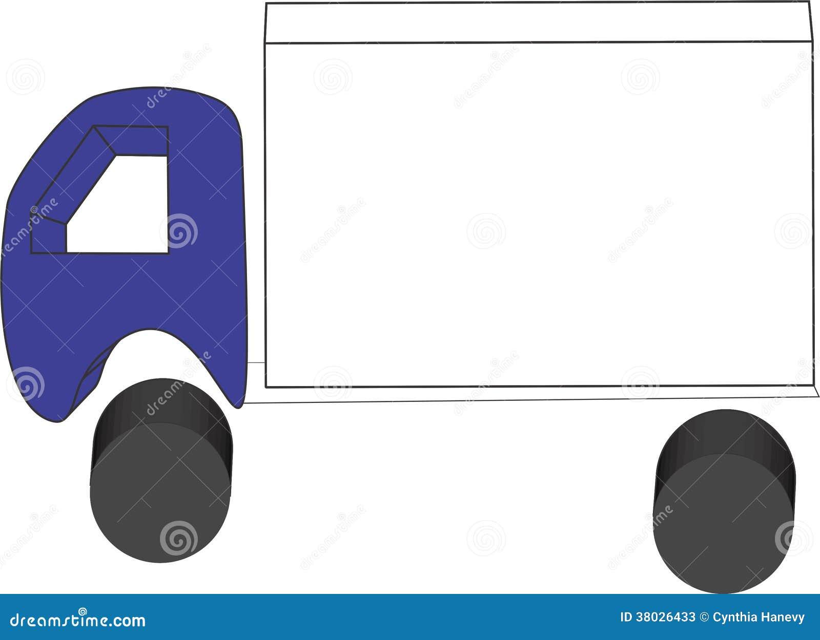 Camion semplice nella prospettiva 3d con stanza su traile for Testo il cielo nella stanza