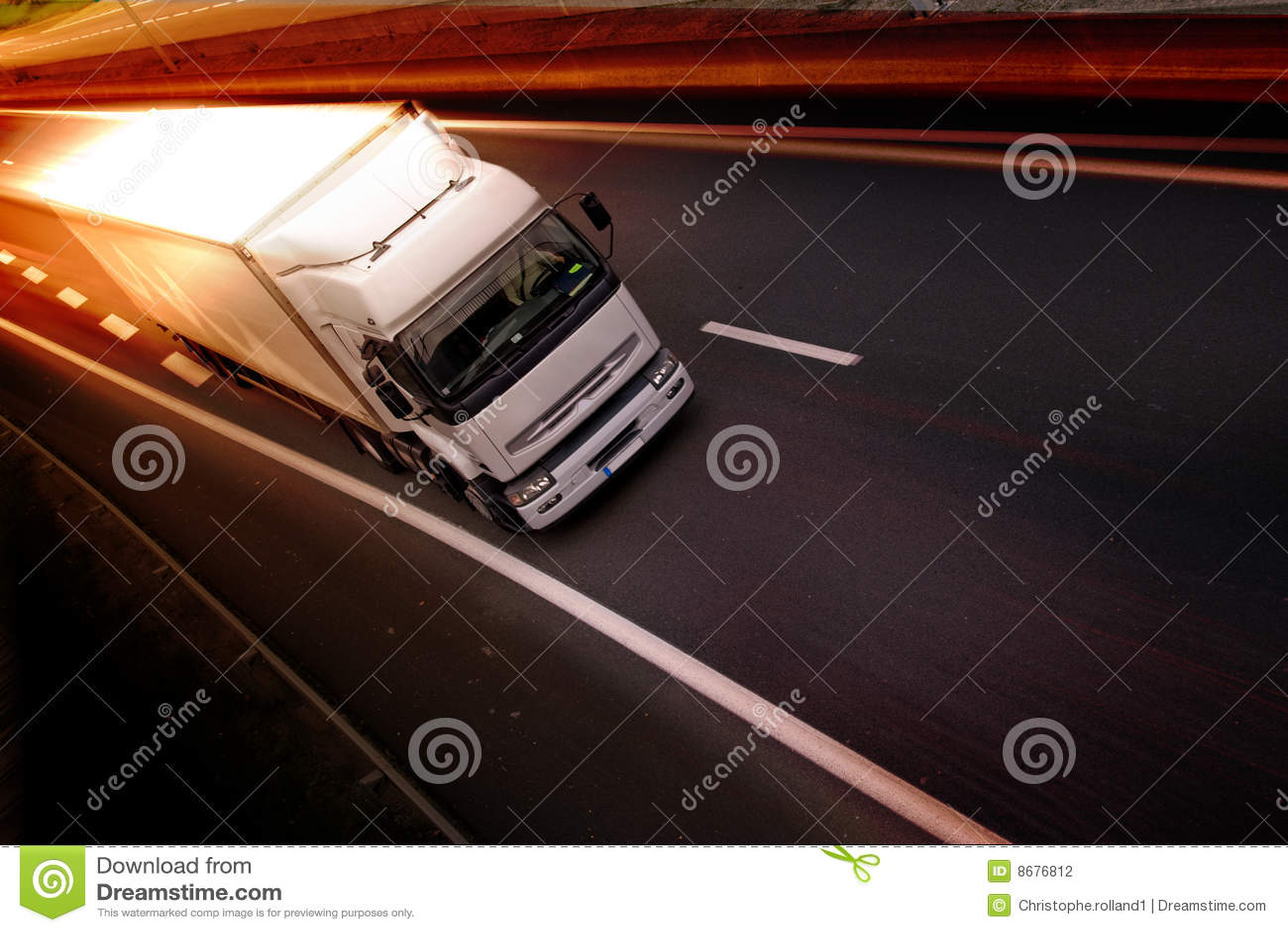 Camion sur l omnibus