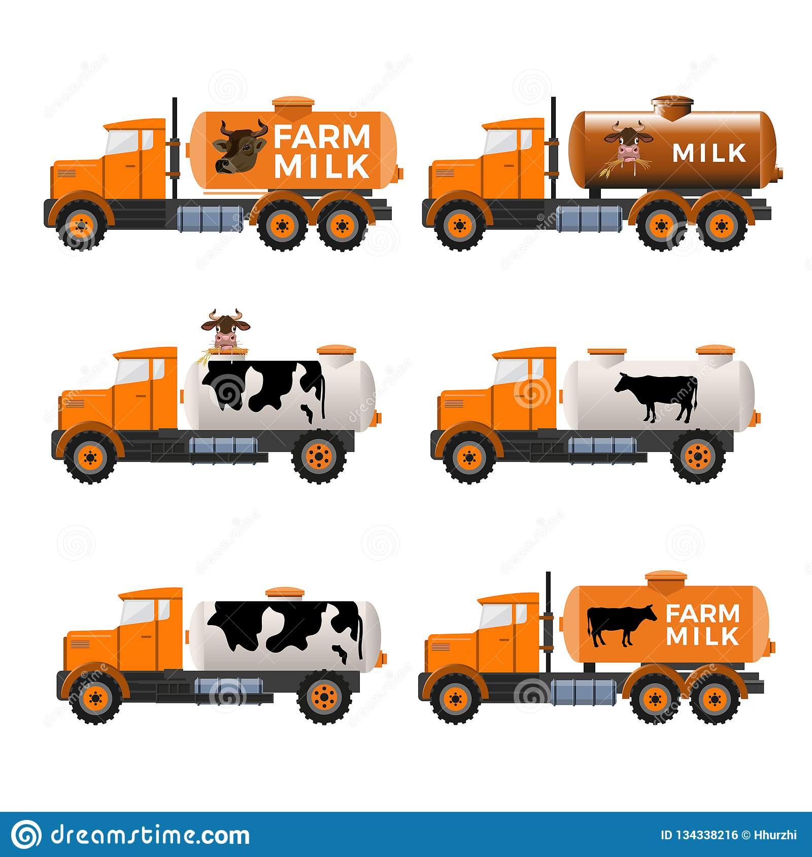 Camiones del depósito de leche