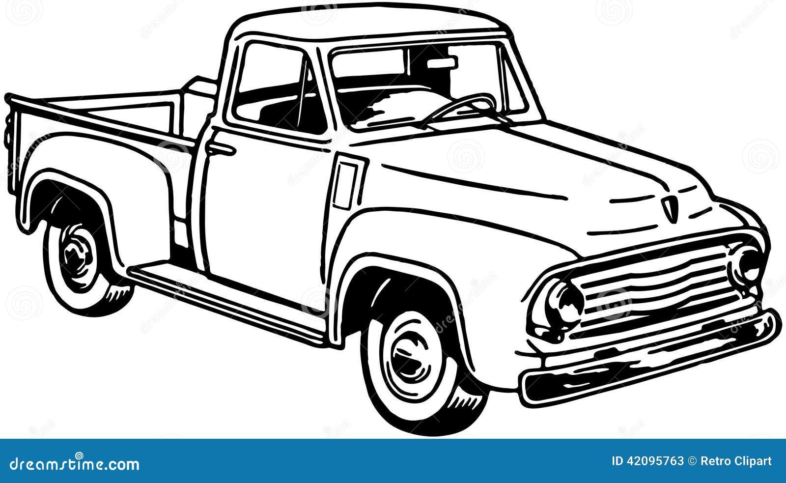 camioneta pickup 2 ilustraci u00f3n del vector
